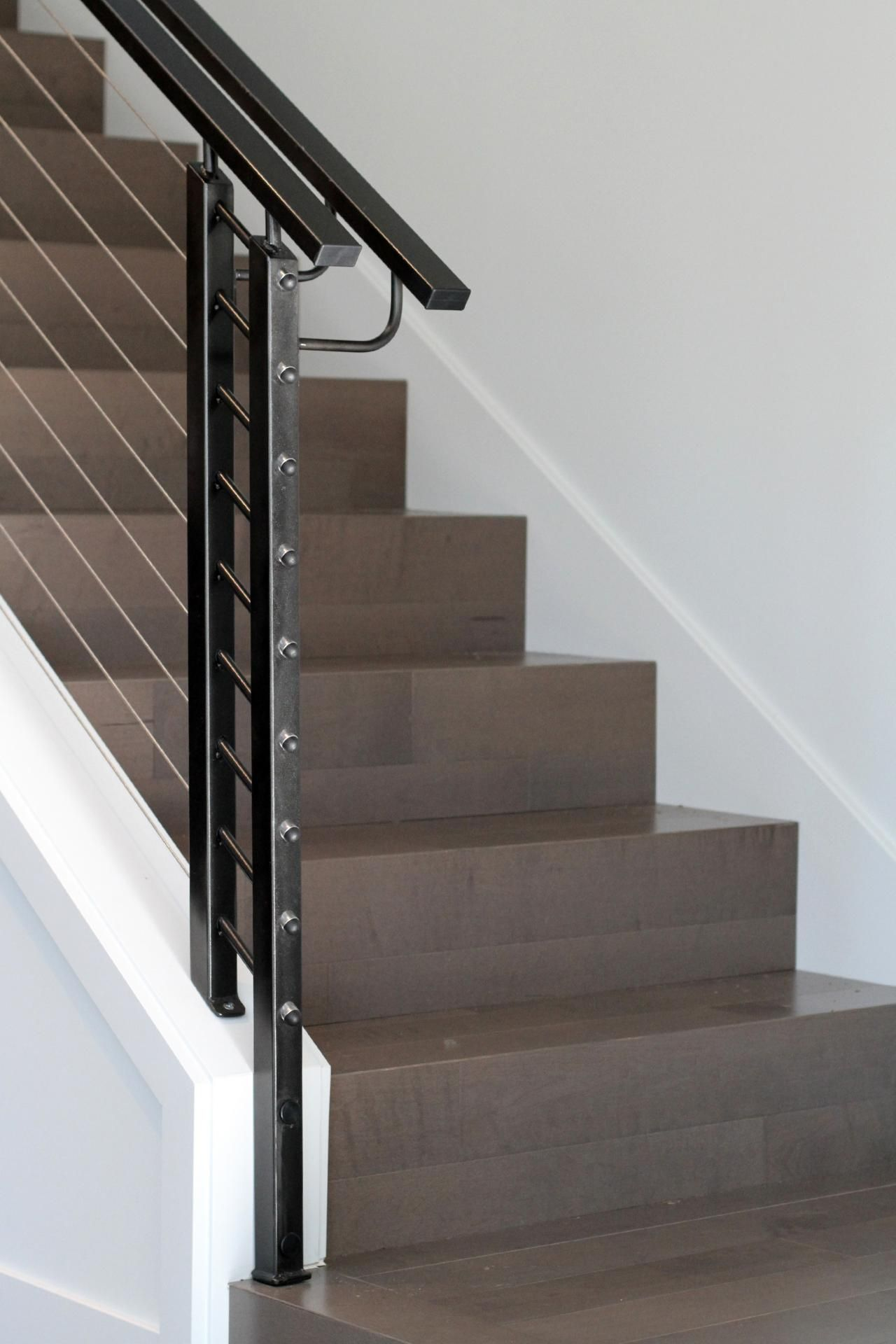 This sleek staircase features perfect 90 degree edges on the ...