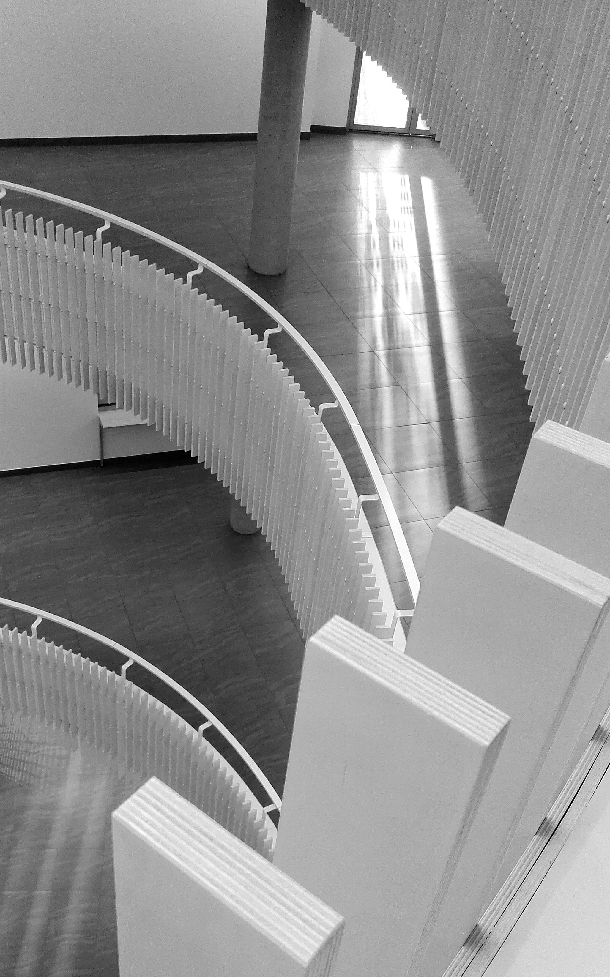 White steel rails photo