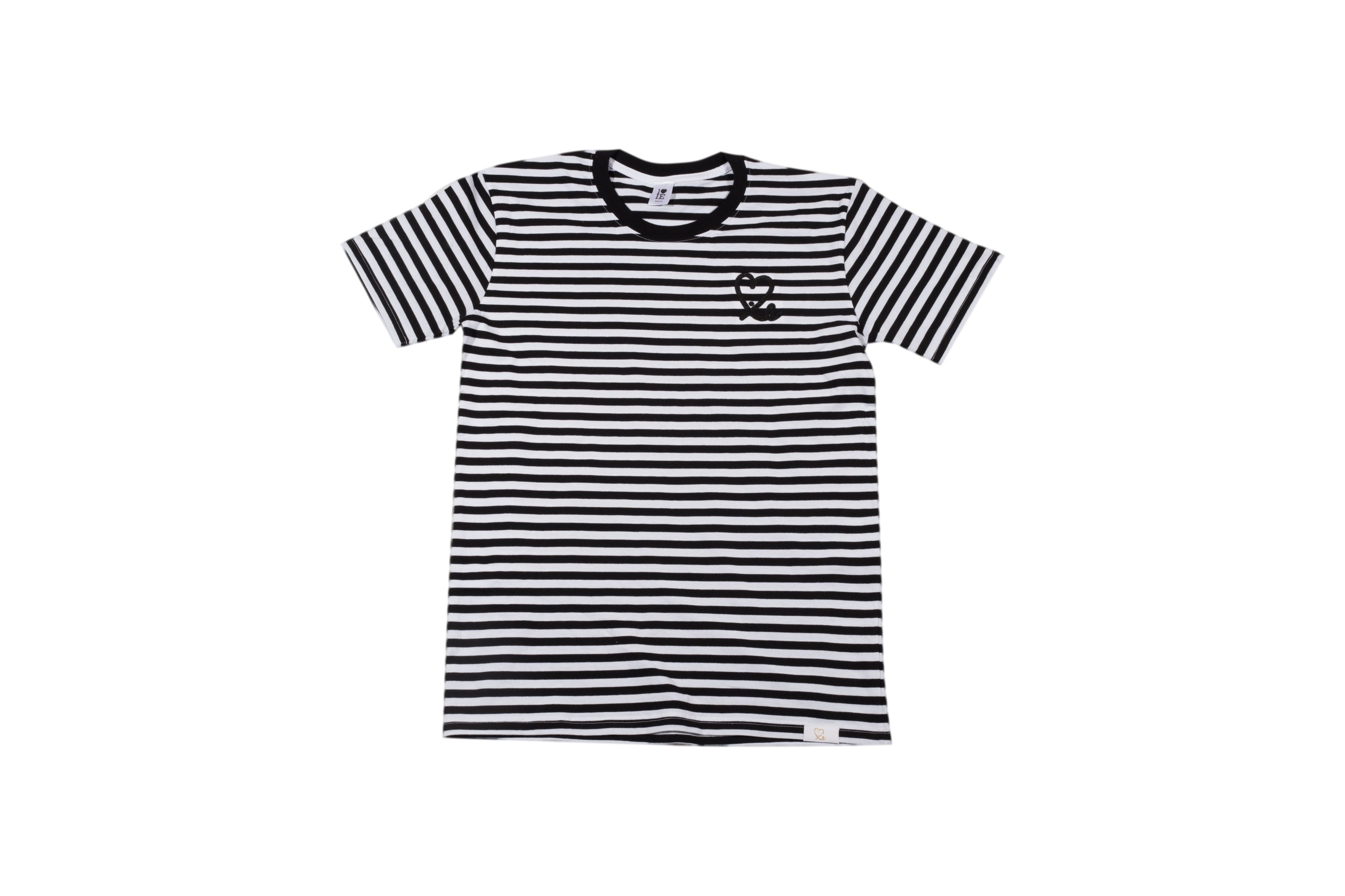 Men's Black White Stripe Tee – 1LoveIE