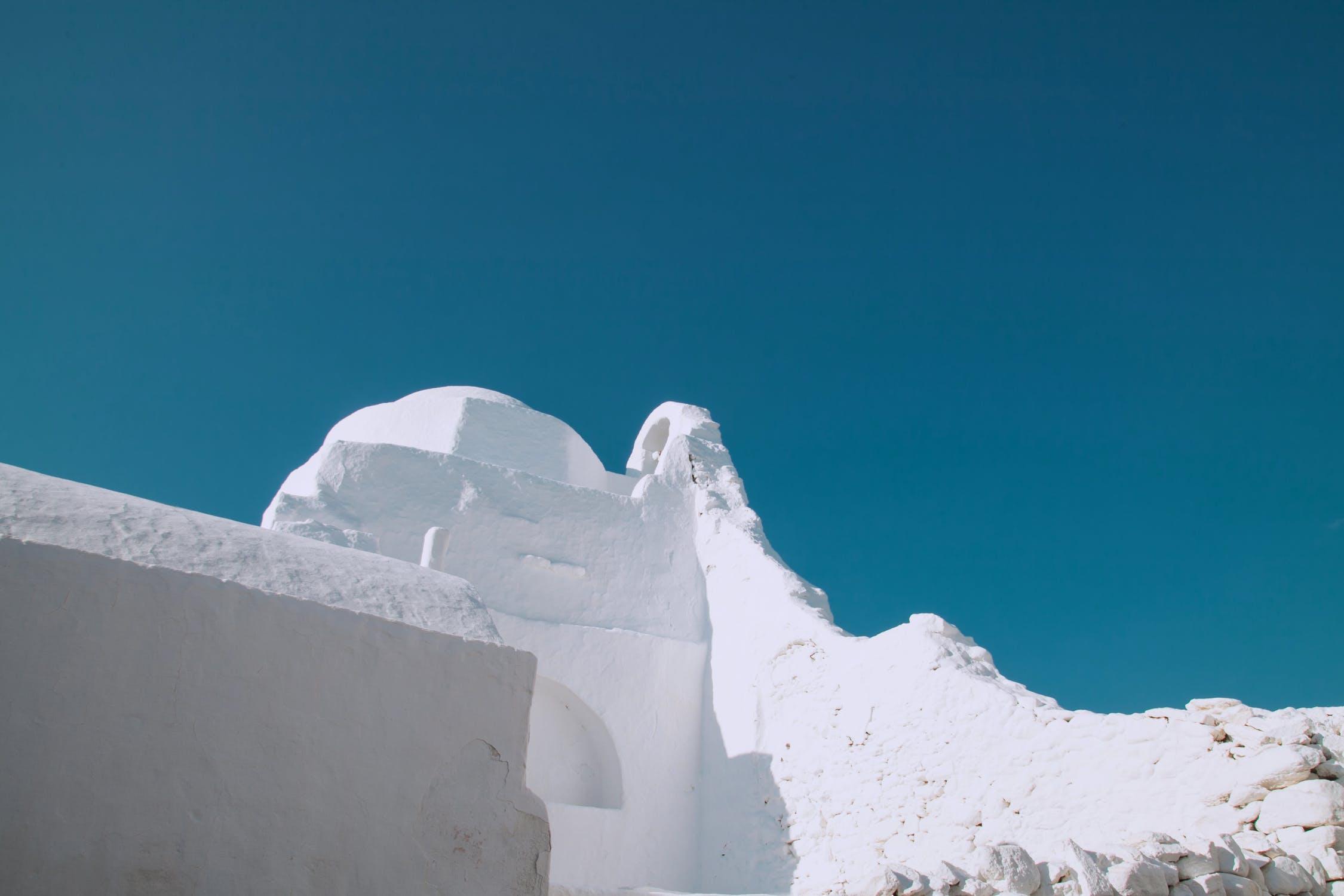 White structure photo