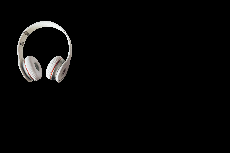 White wireless headphones photo