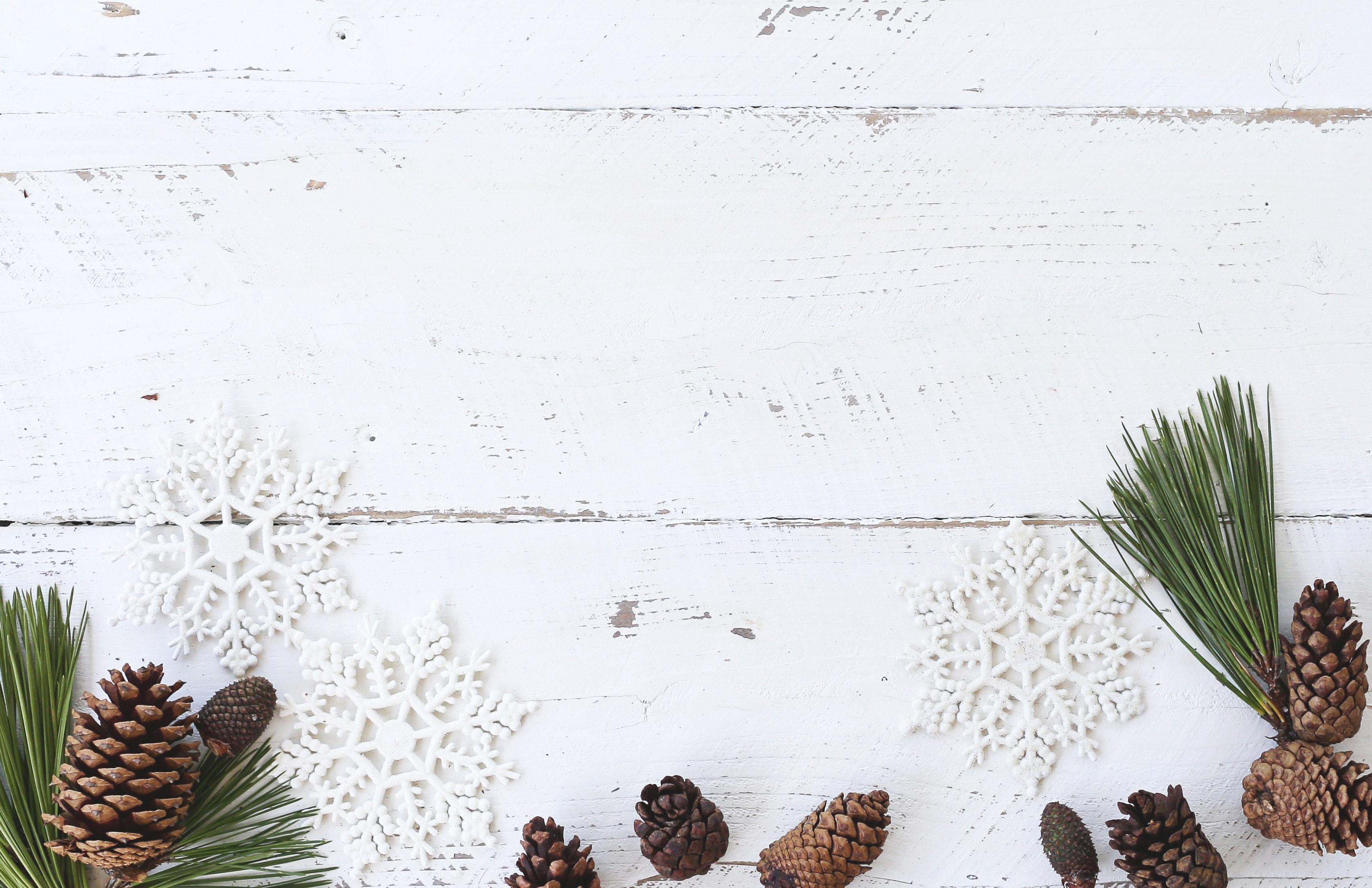 White Wooden Panel, Christmas, Conifer cone, Decoration, Desk, HQ Photo