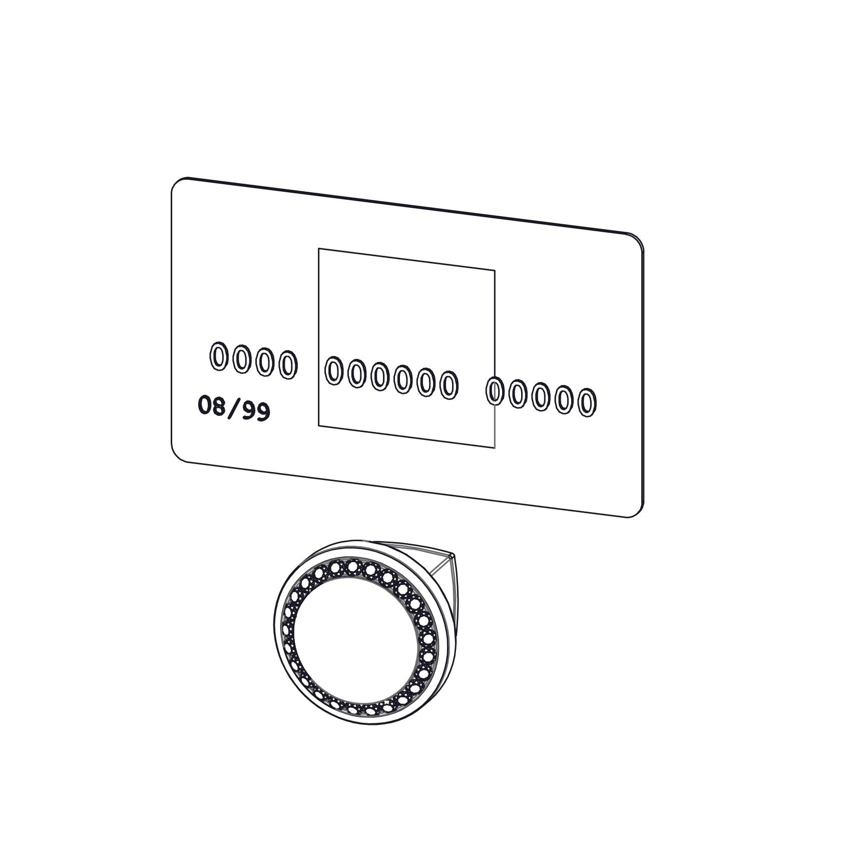 Isabel Crystal Cabinet Hardware Knob, White1 1/4 Inch Diameter