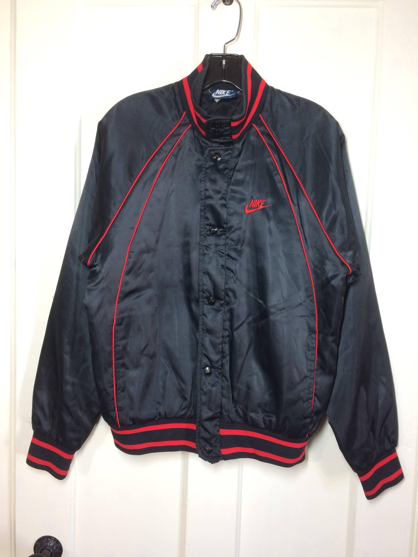 AJ1 1980's 1985 Air Jordan wings basketball satin bomber jacket size ...