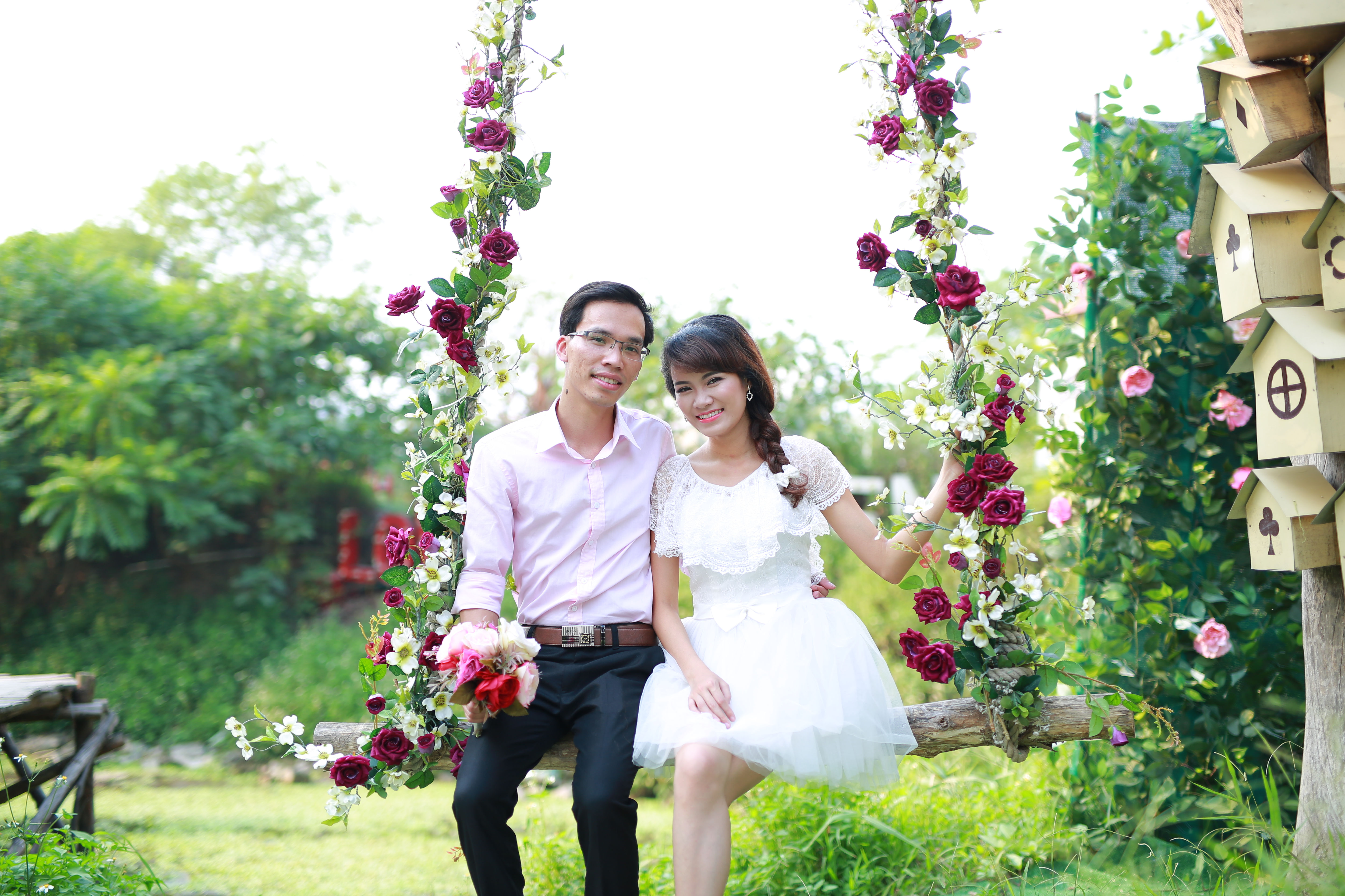Wife and Husband, Pose, Romantic, Wedding, Wife, HQ Photo