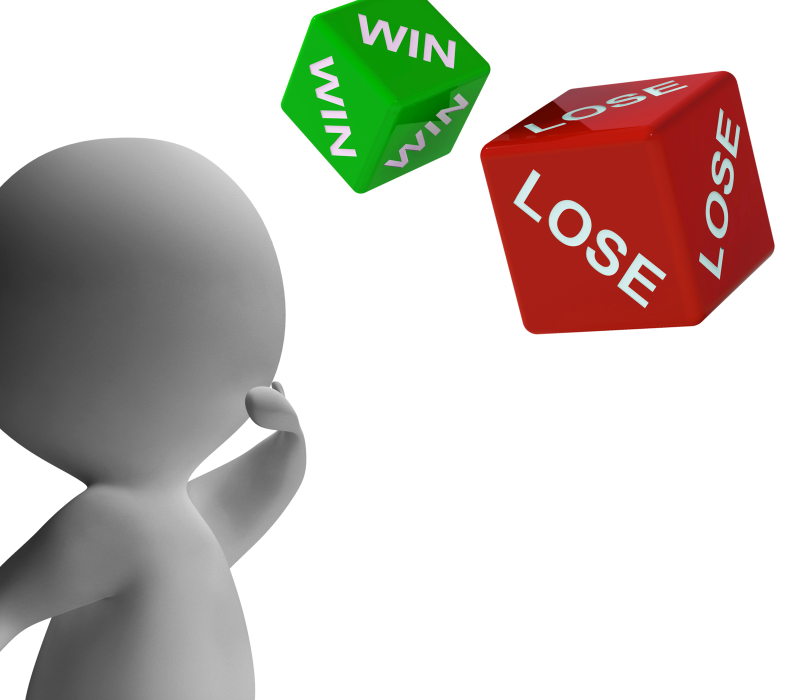 Win Lose Dice Shows Gambling, Payoff, Odds, Luck, Losing, HQ Photo