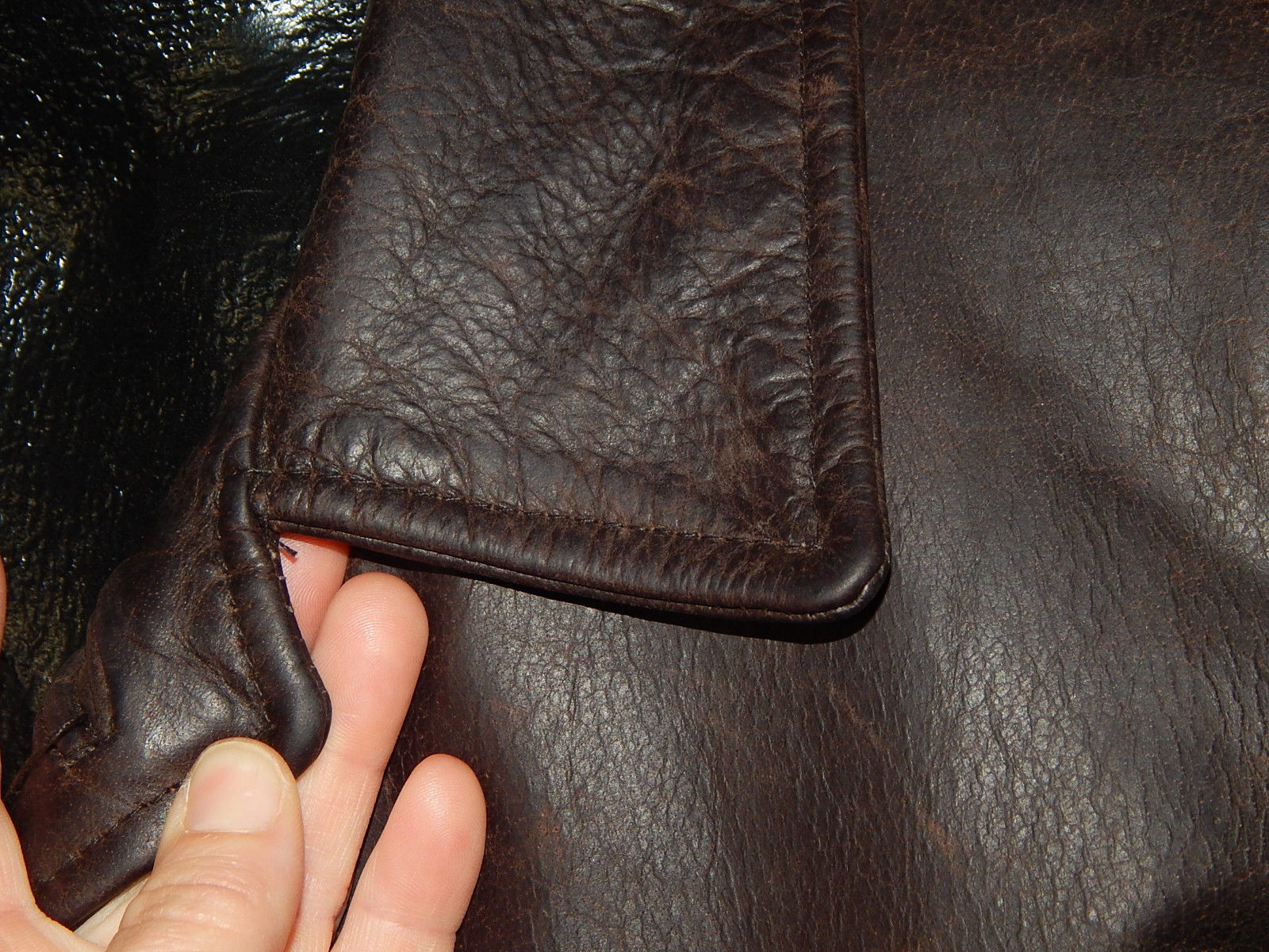 Vtg Anjum Collection Men OILED STEER HIDE Jacket Dean Winchester ...