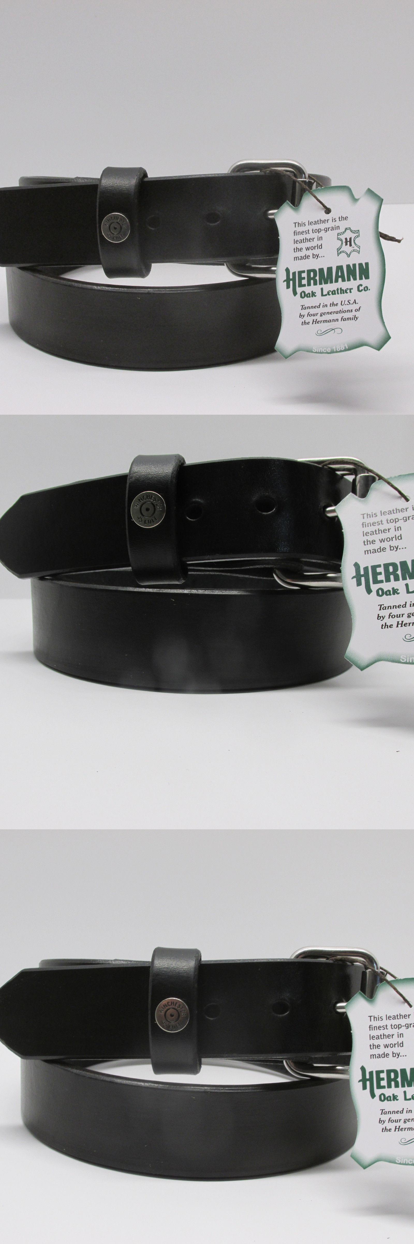 Belts 2993: Hermann Oak Harness Leather Belt Black Winchester 45 Men ...