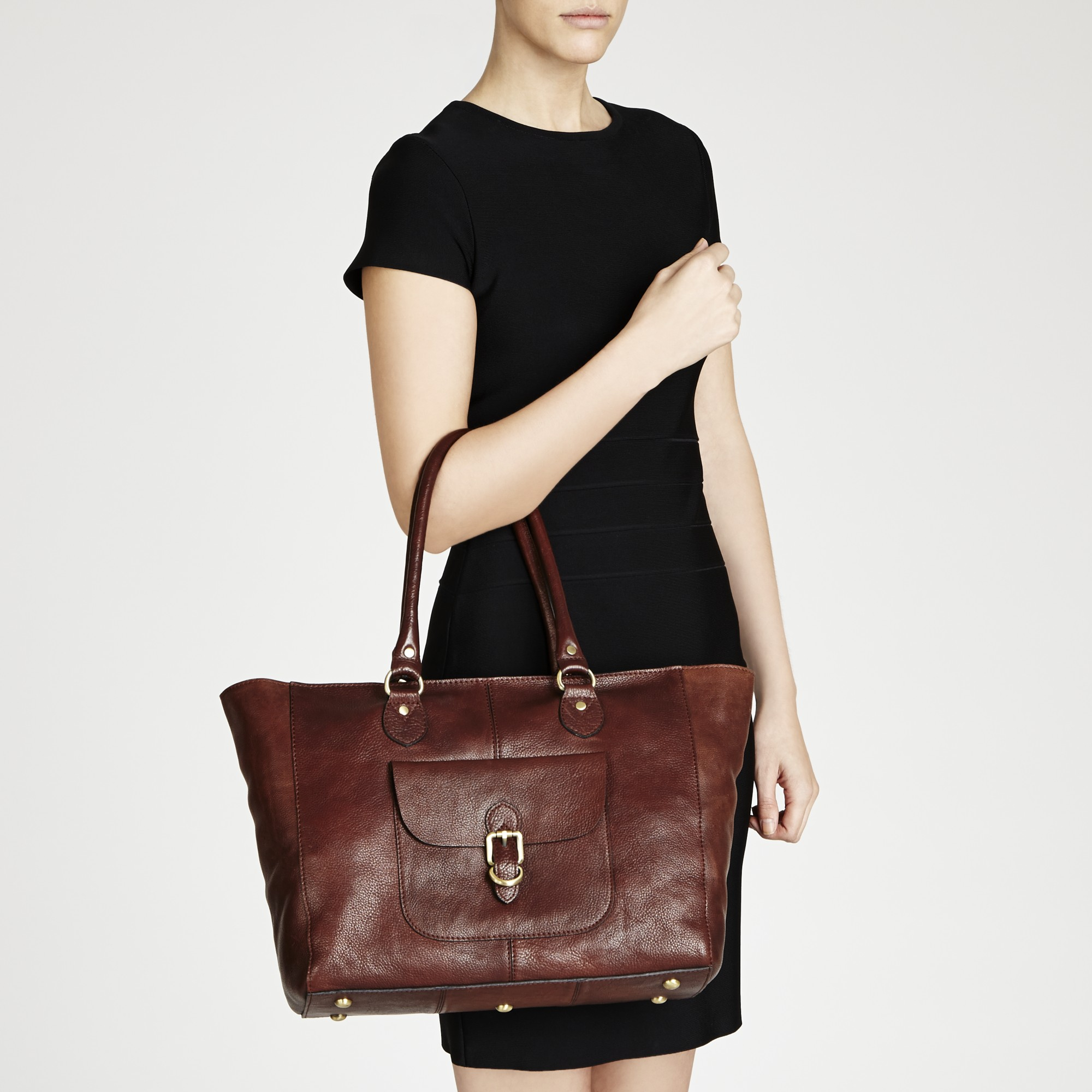 Lyst - John Lewis Winchester Large Leather Tote Bag in Brown