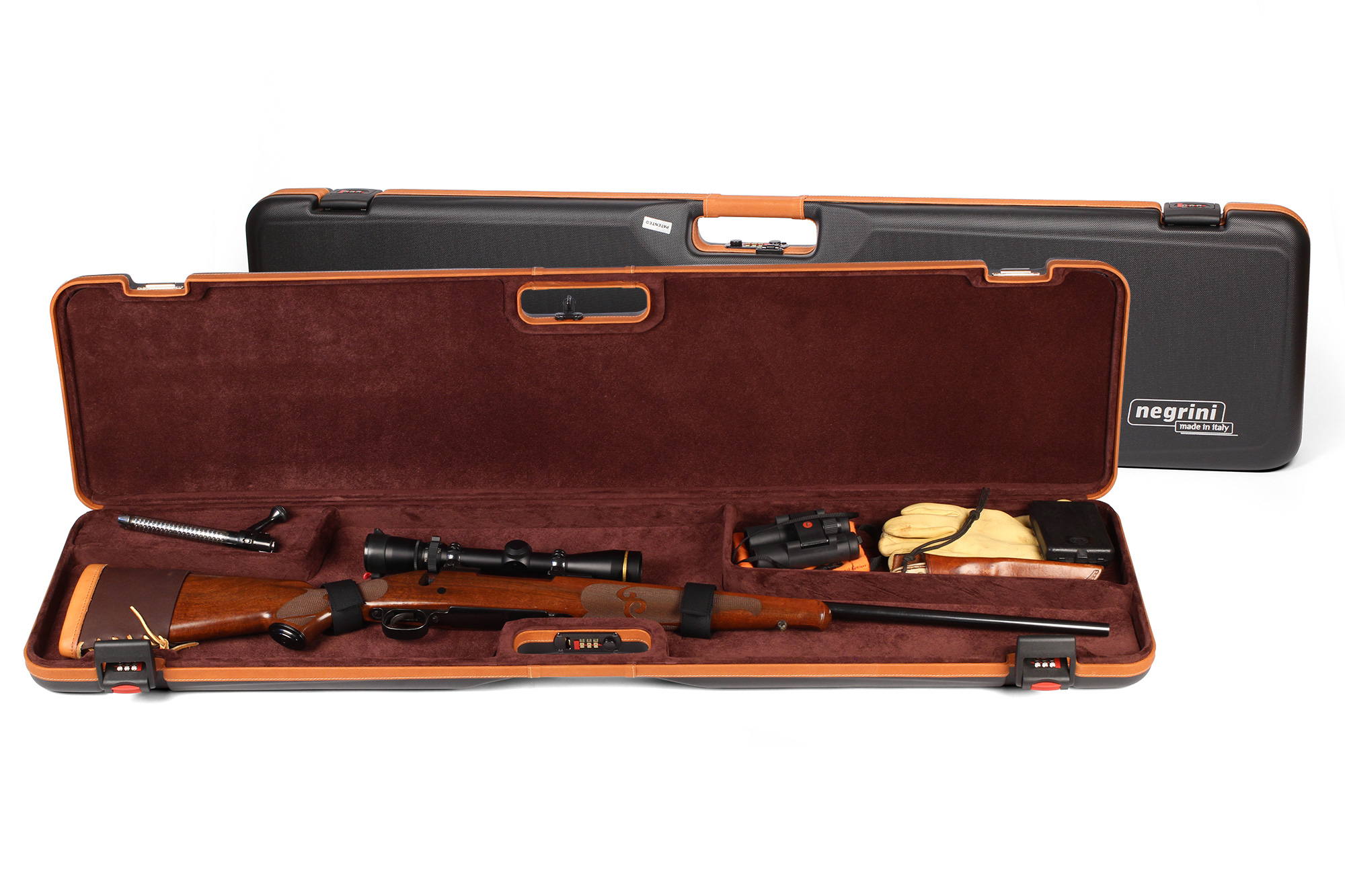 Negrini Deluxe Compact Bolt Action Rifle Case for Travel