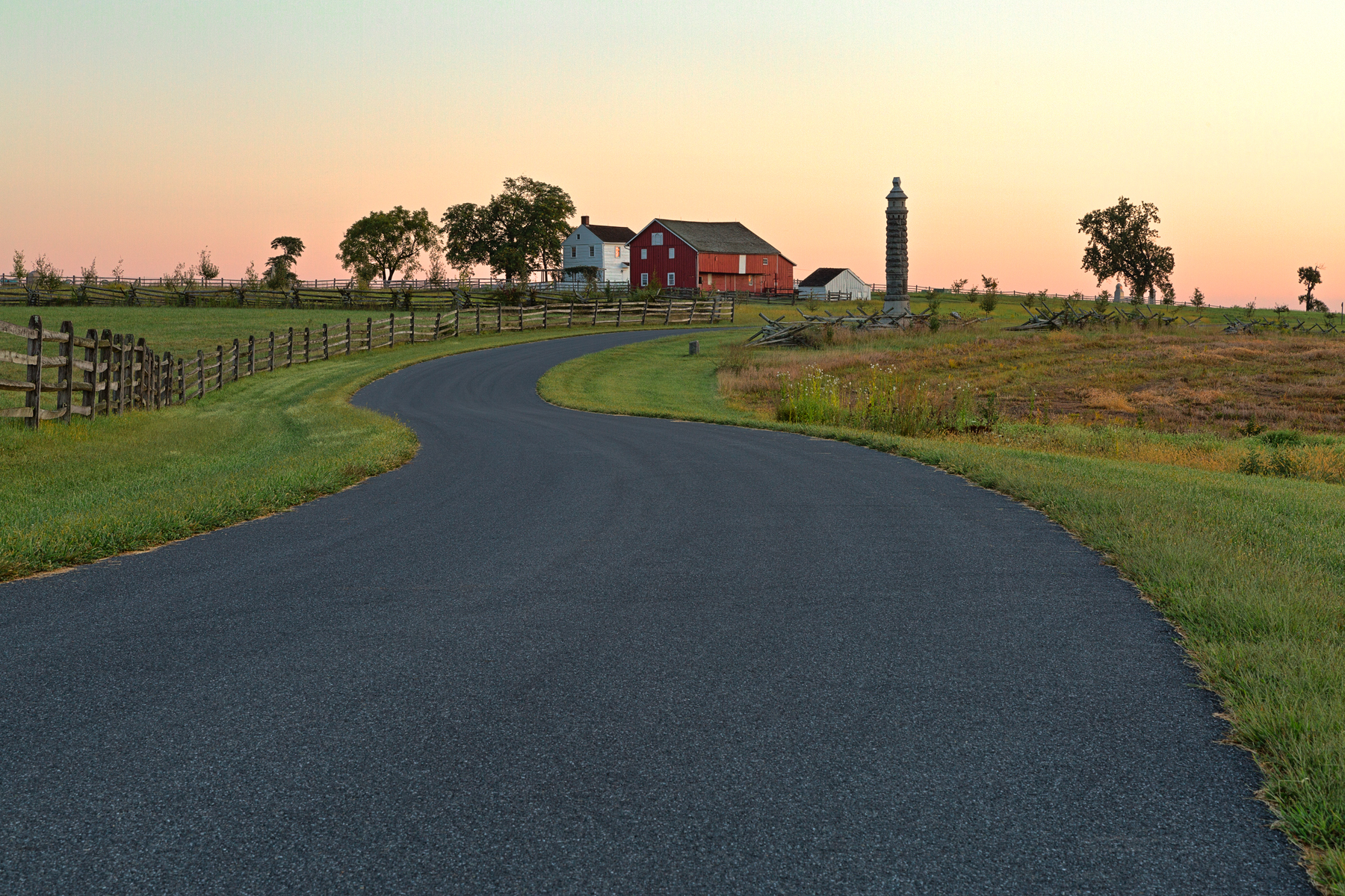Winding Dawn Road - HDR, America, Outdoors, Red, Range, HQ Photo