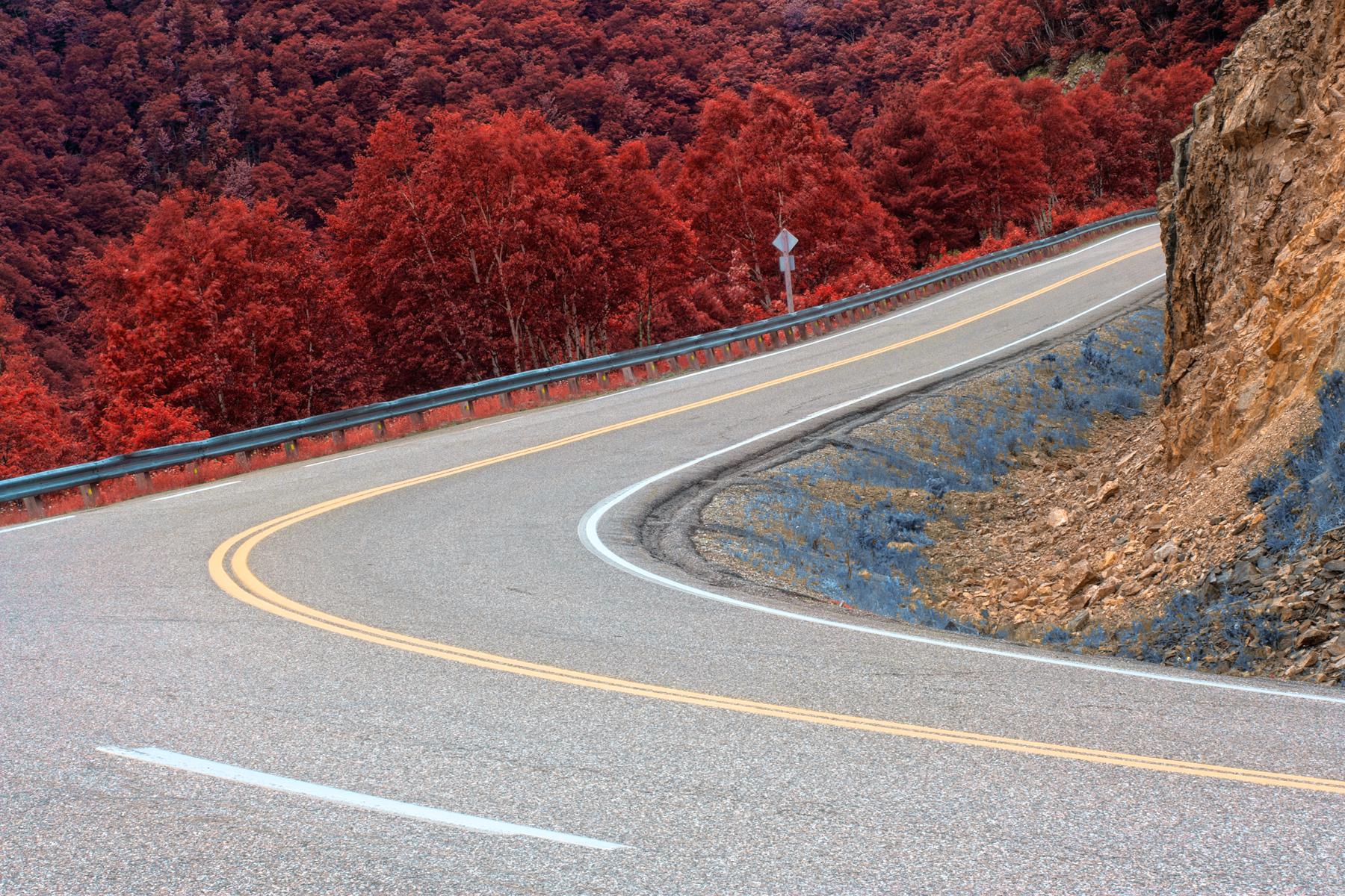 Winding road - split tone hdr photo