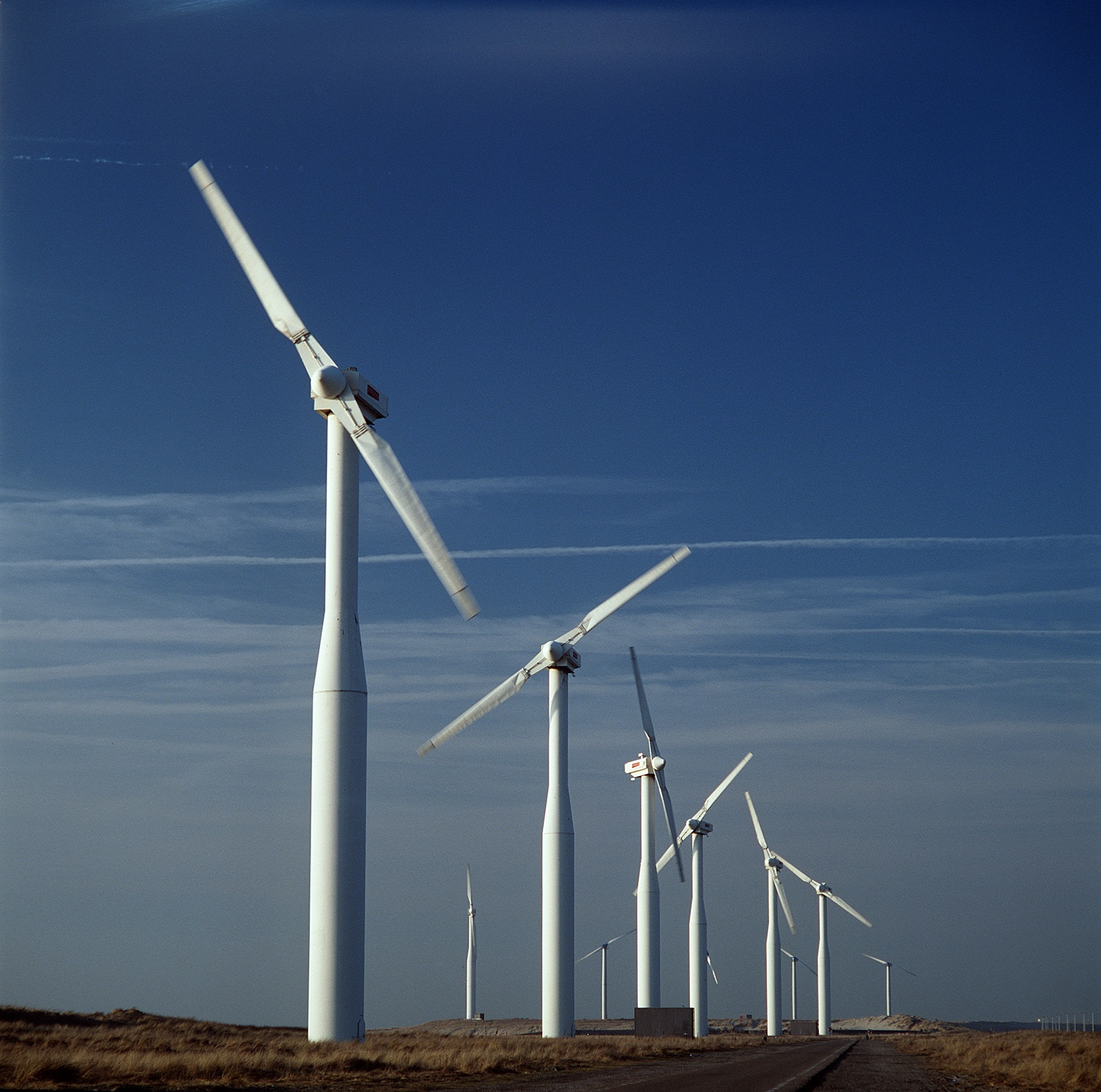 Windmills on the Way, Electricity, Mill, Path, Route, HQ Photo