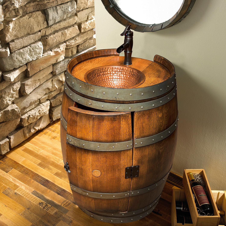 Reclaimed Wine Barrel Vanity - Wine Enthusiast