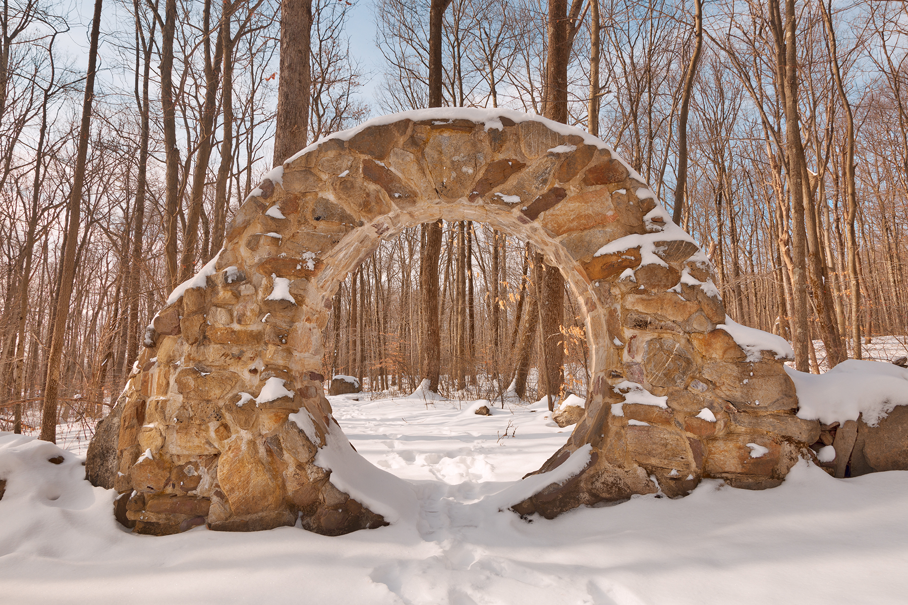 Winter celtic eye trail - hdr photo