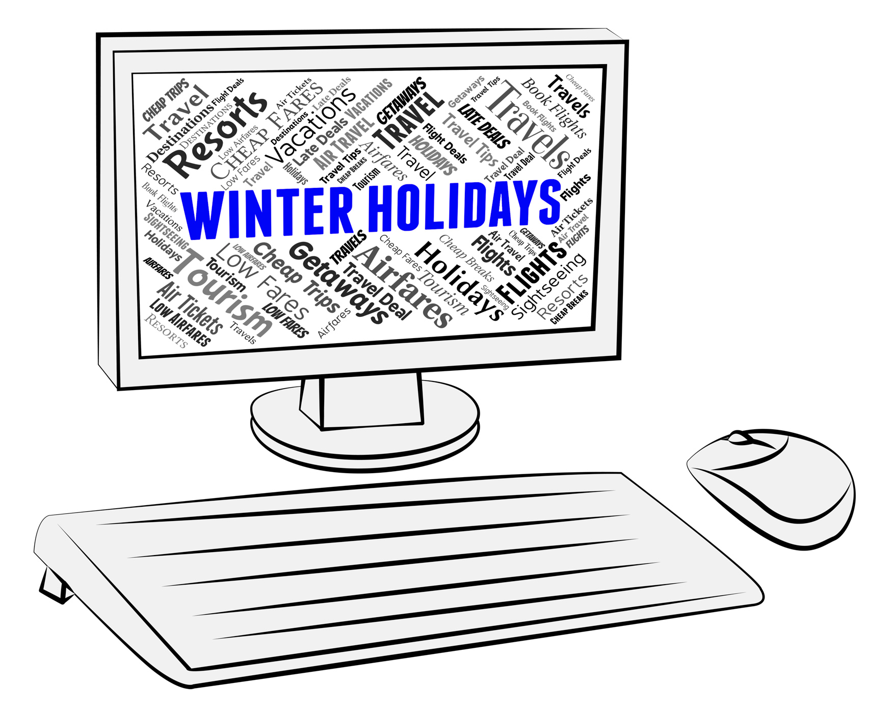 Winter holidays indicates getaway pc and computer photo