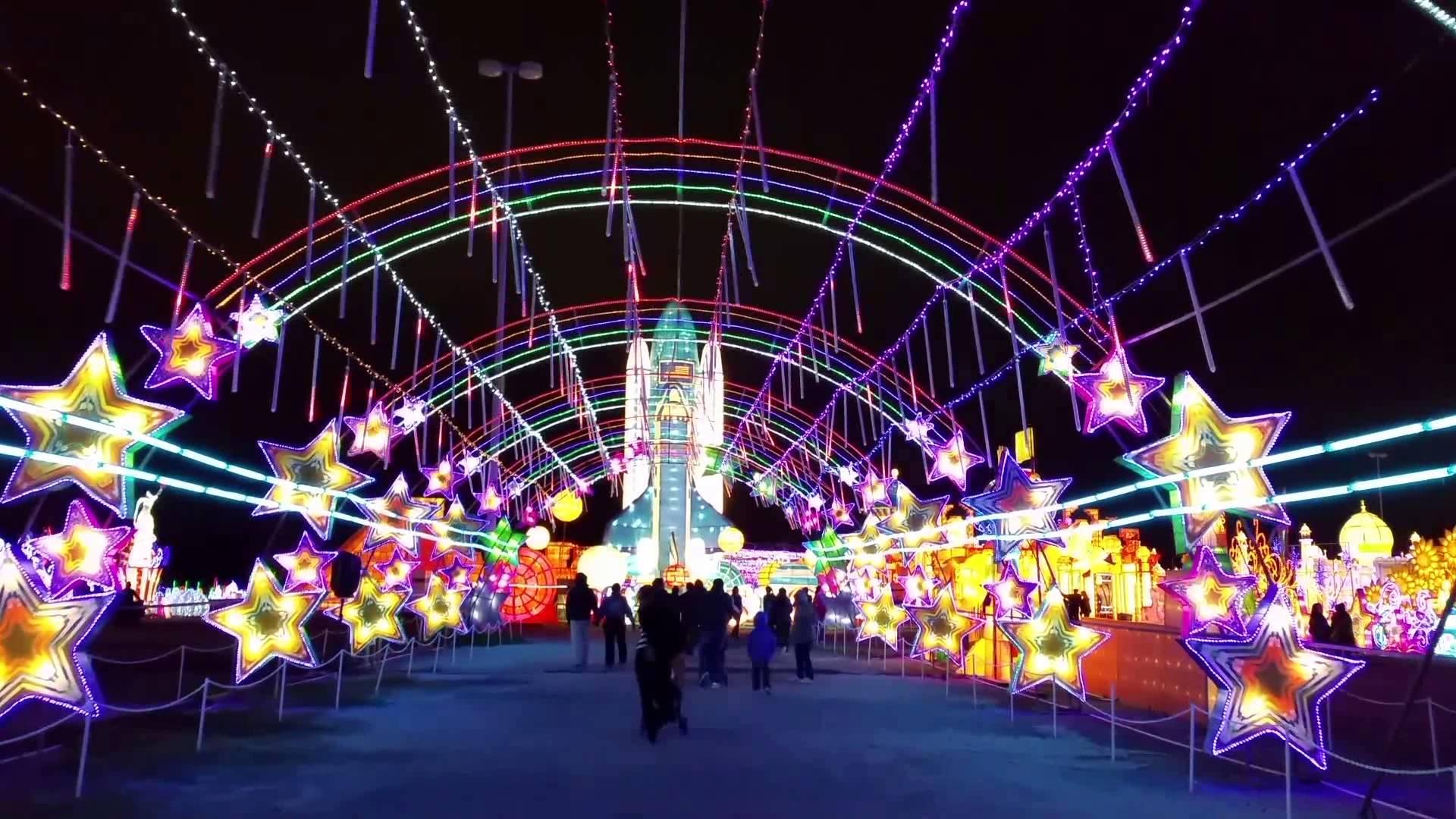 Magical Winter Lights - Houston 2016 - YouTube