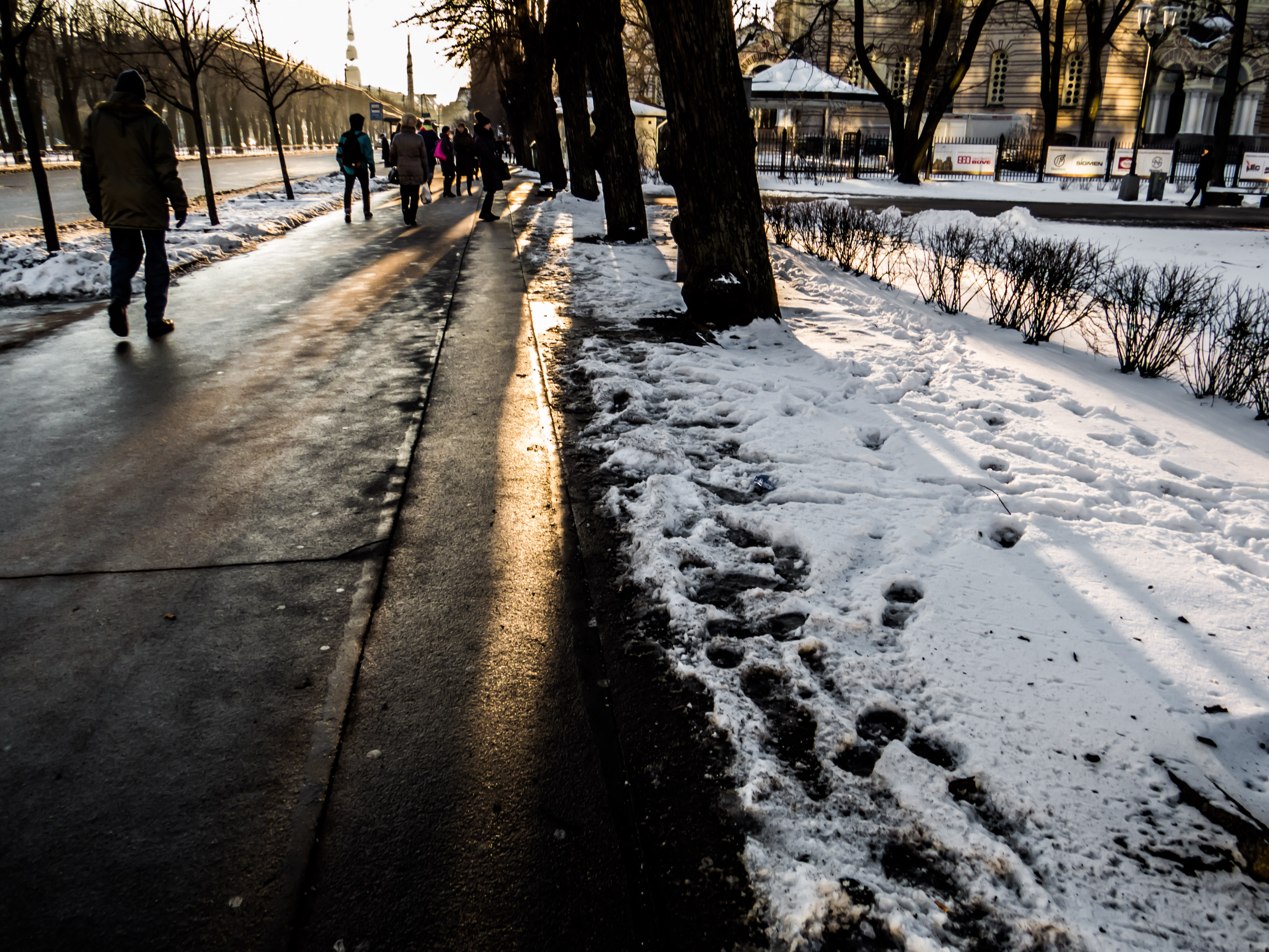 Winter lights, Winter, Street, Way, Walk, HQ Photo