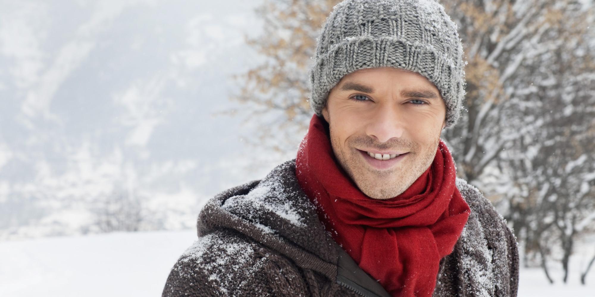 Winter man photo