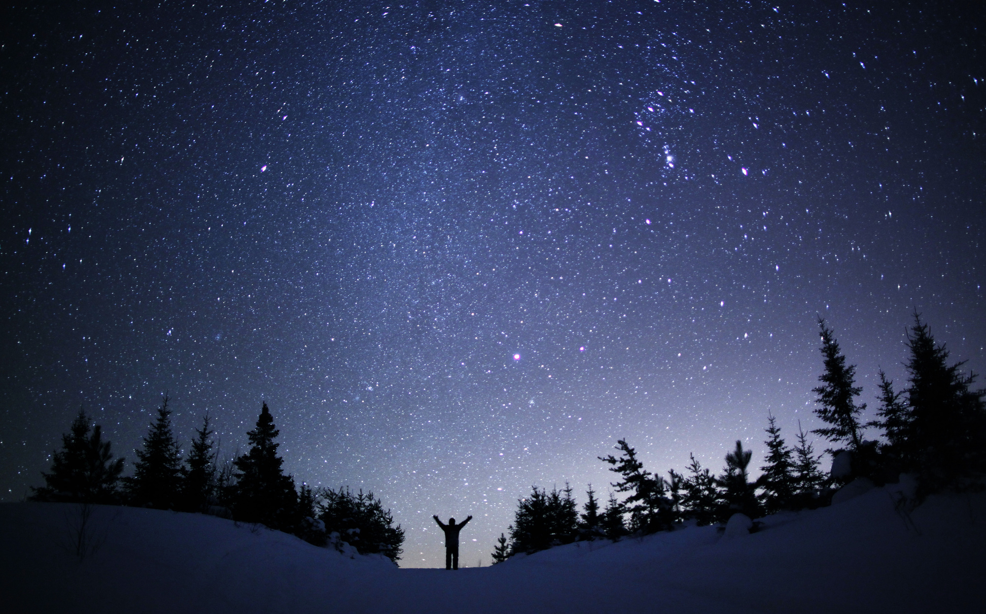 Winter nightsky photo