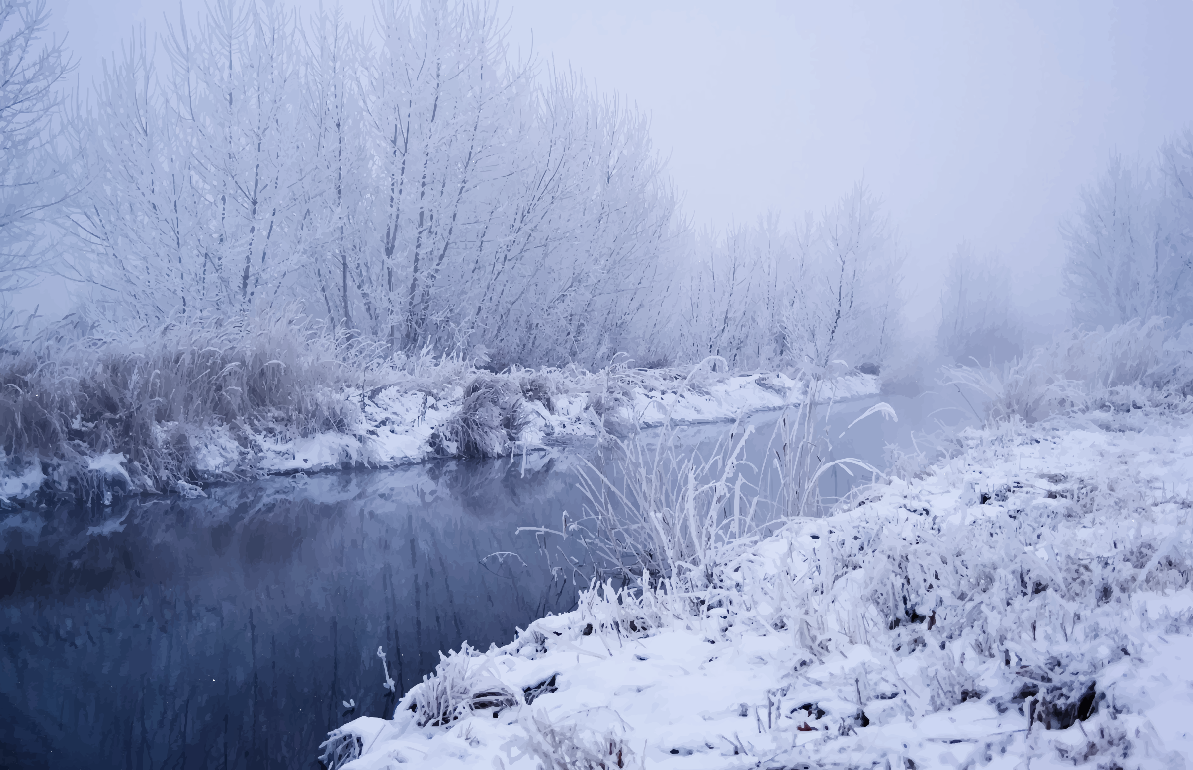 Winter River Scene Icons PNG - Free PNG and Icons Downloads