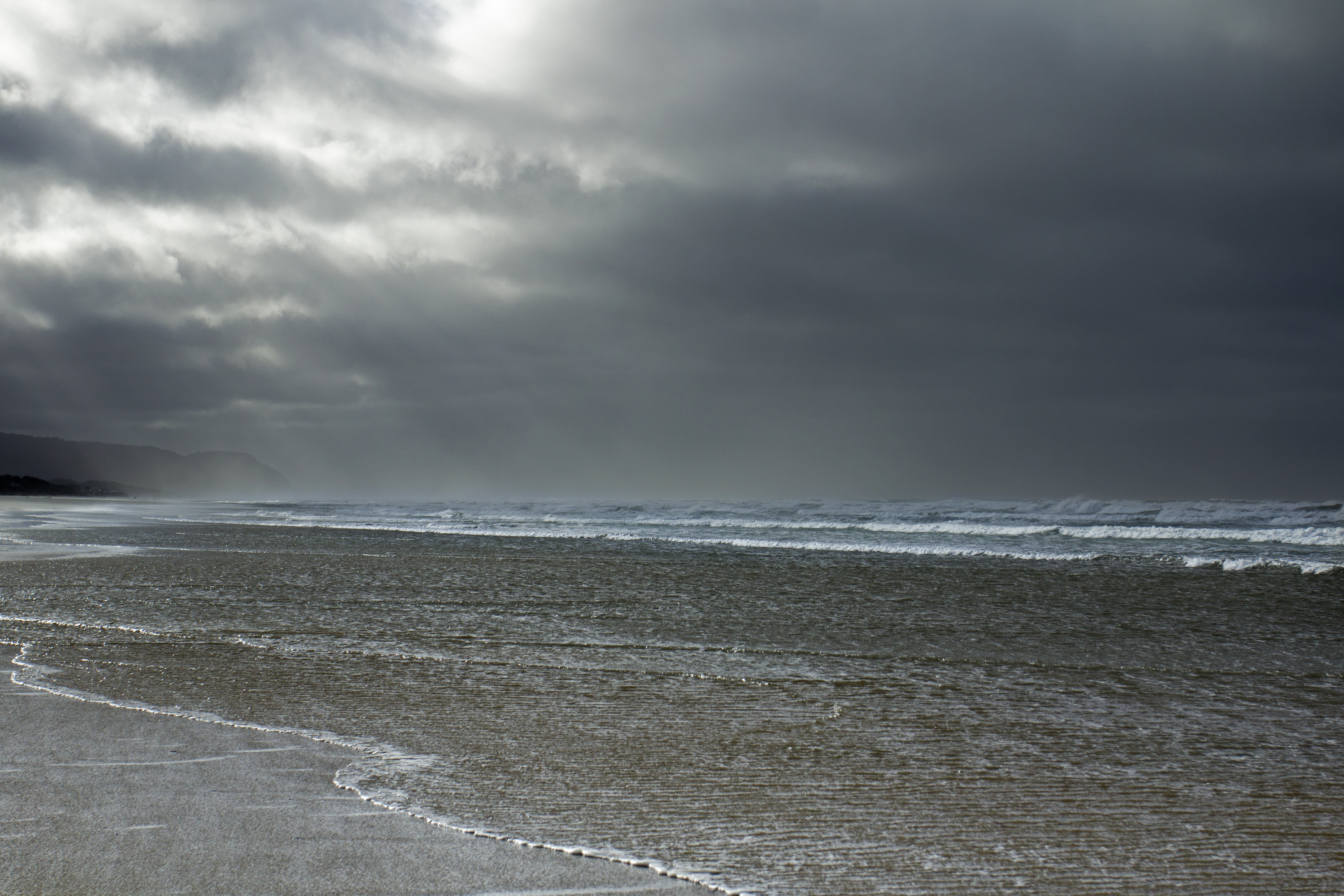 Winter storm on coast, oregon photo