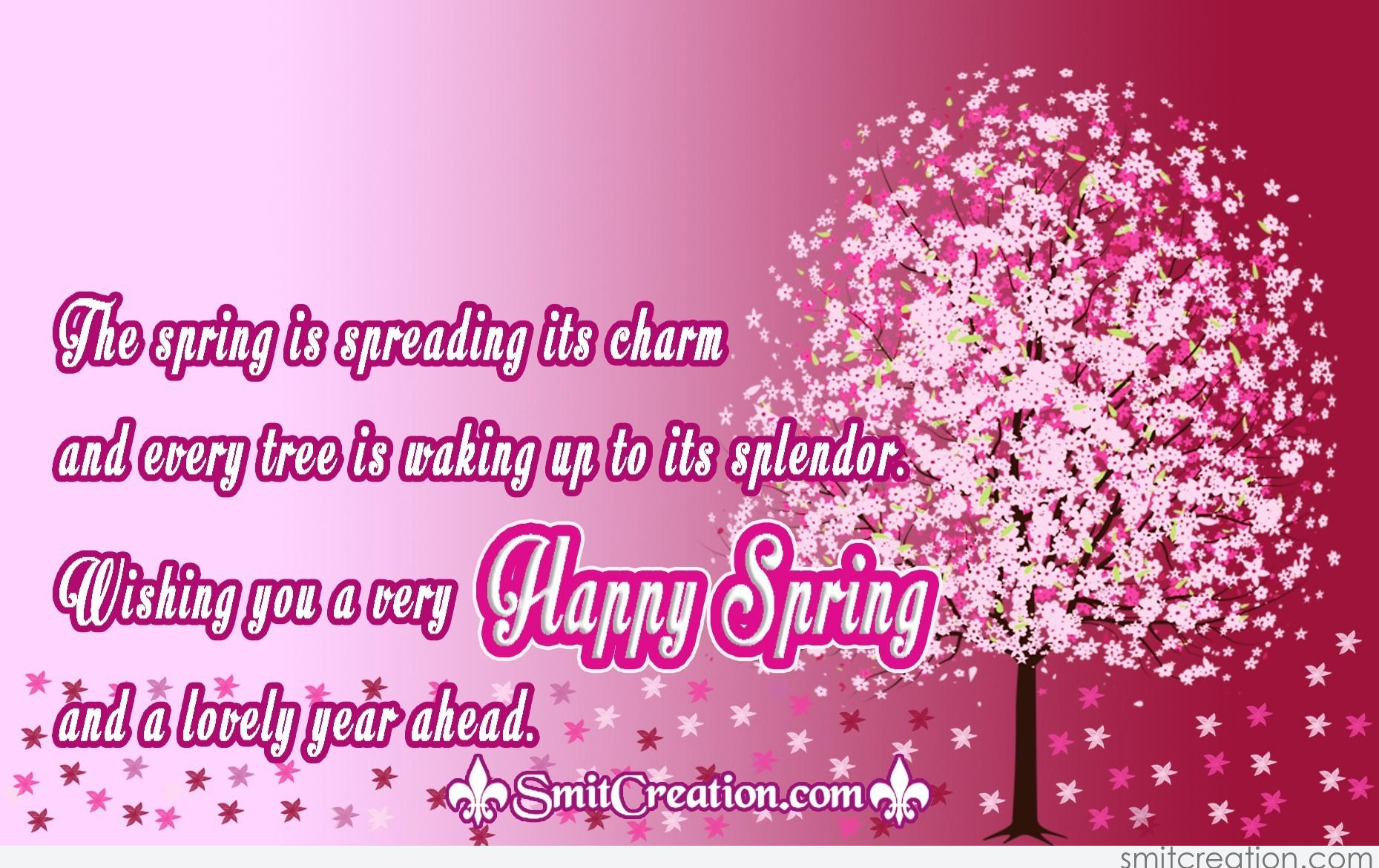 Wishing you a very Happy Spring - SmitCreation.com