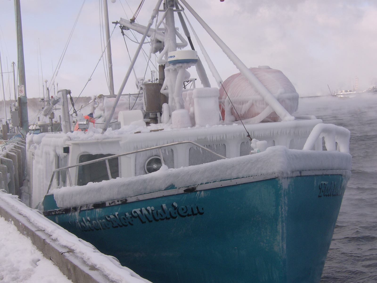 Wish'en for Spring, Boat, Con0207, Fog, Freeze, HQ Photo