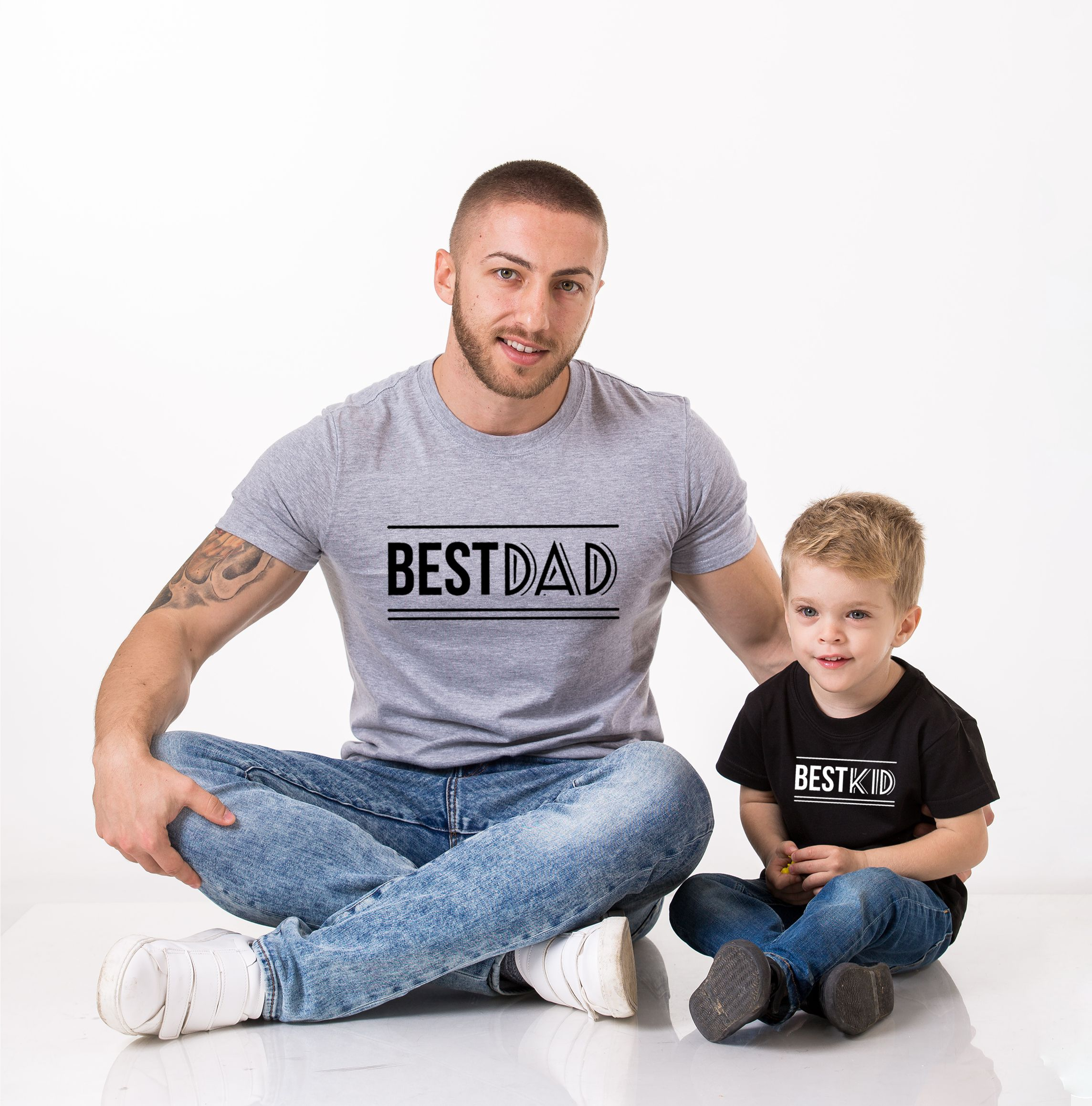 Best Dad Best Kid Shirts, Matching Daddy and Me Shirts