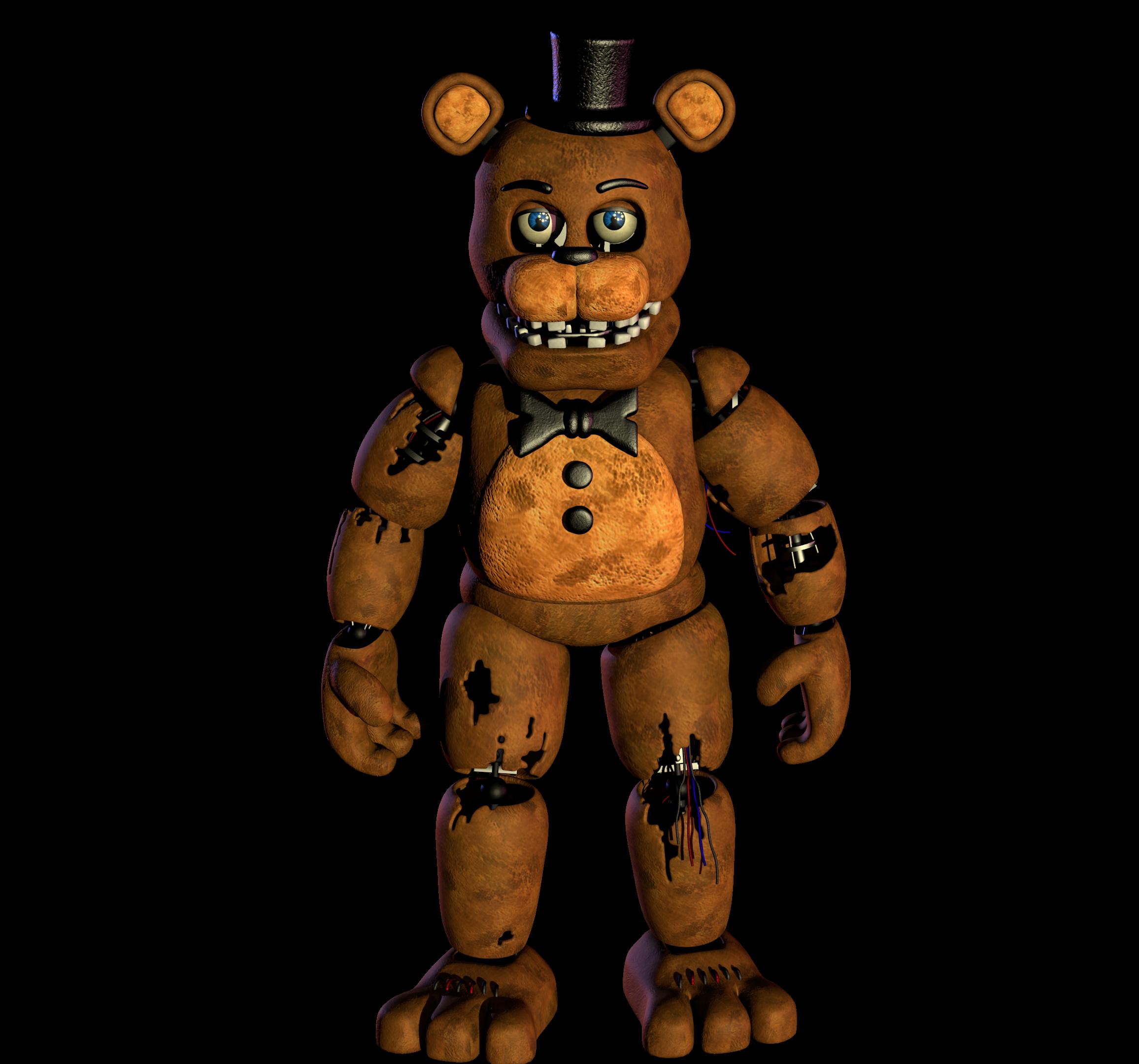 Withered Freddy v8 Model : fivenightsatfreddys