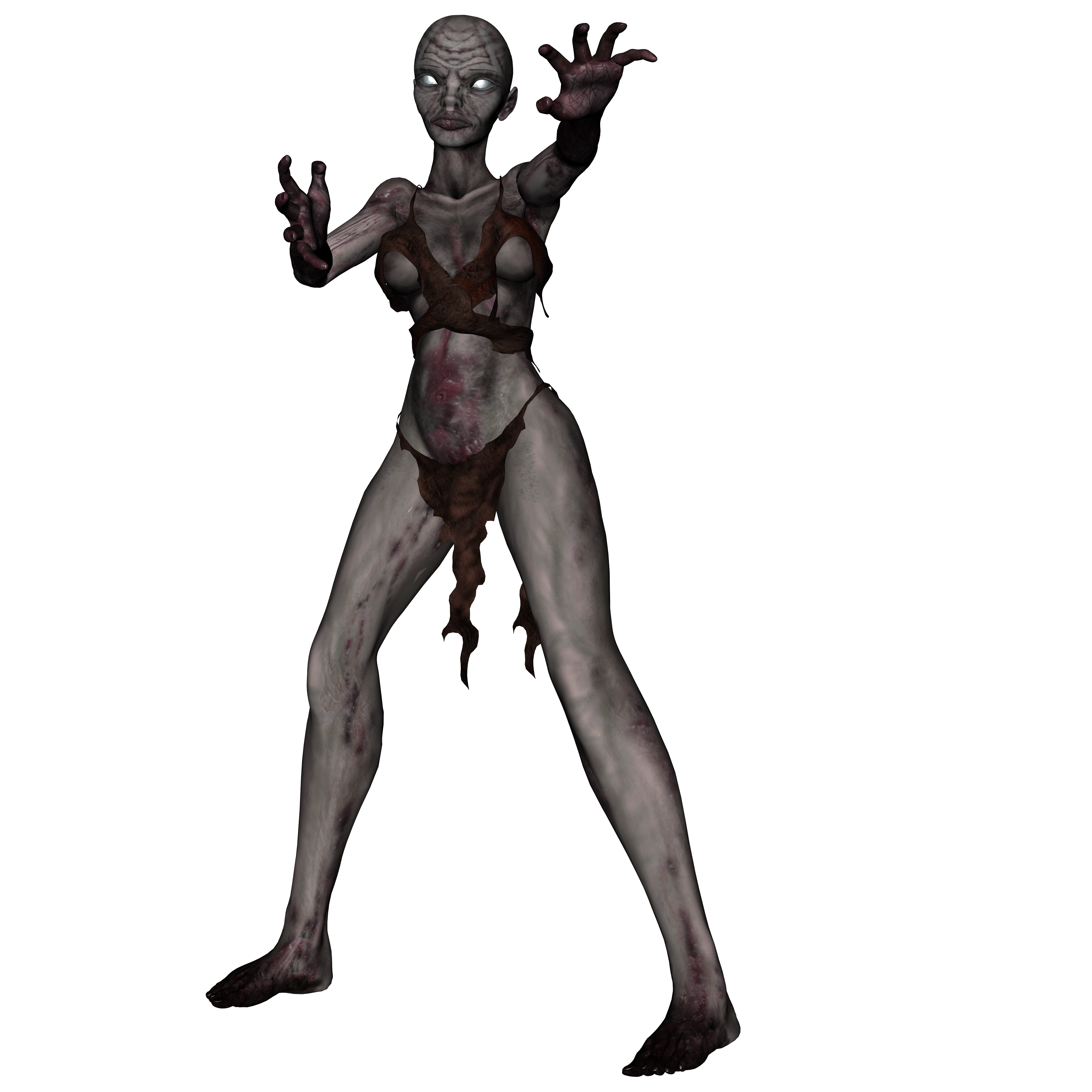 Withered, 3d, Female, Ghost, Halloween, HQ Photo