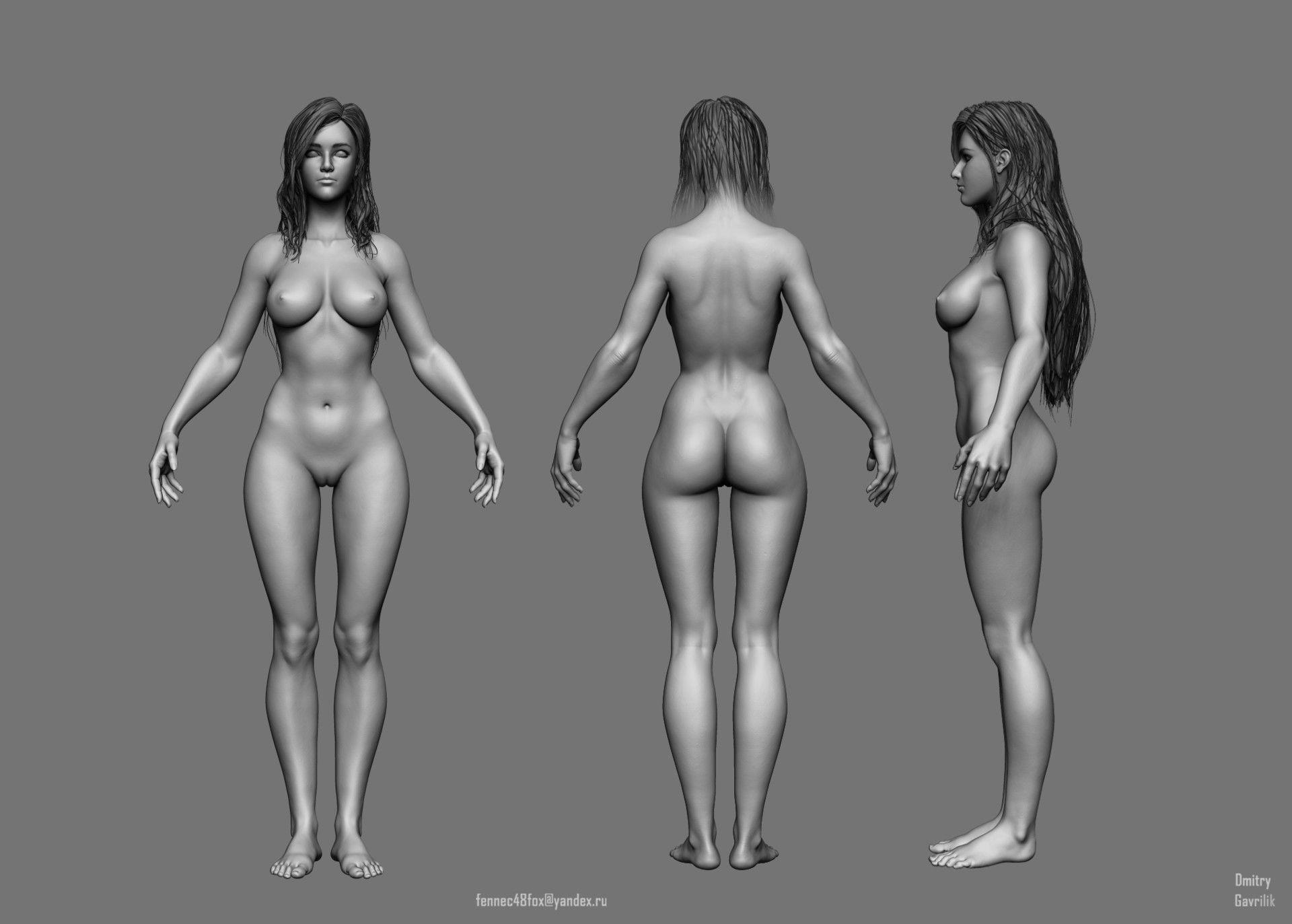 ArtStation - Female Anatomy Study, Dmitry Gavrilik   Woman Body ...