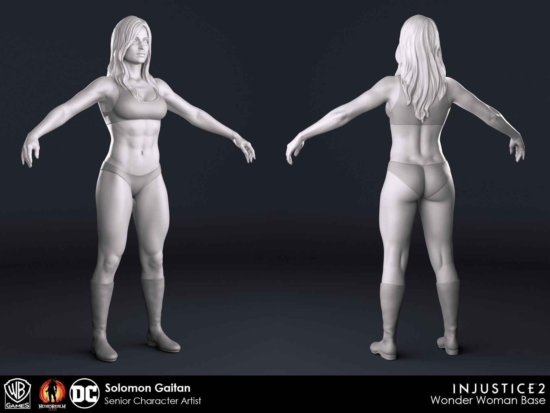 ArtStation - Injustice 2 - Female Bases, Solomon Gaitan | 3D Renders ...