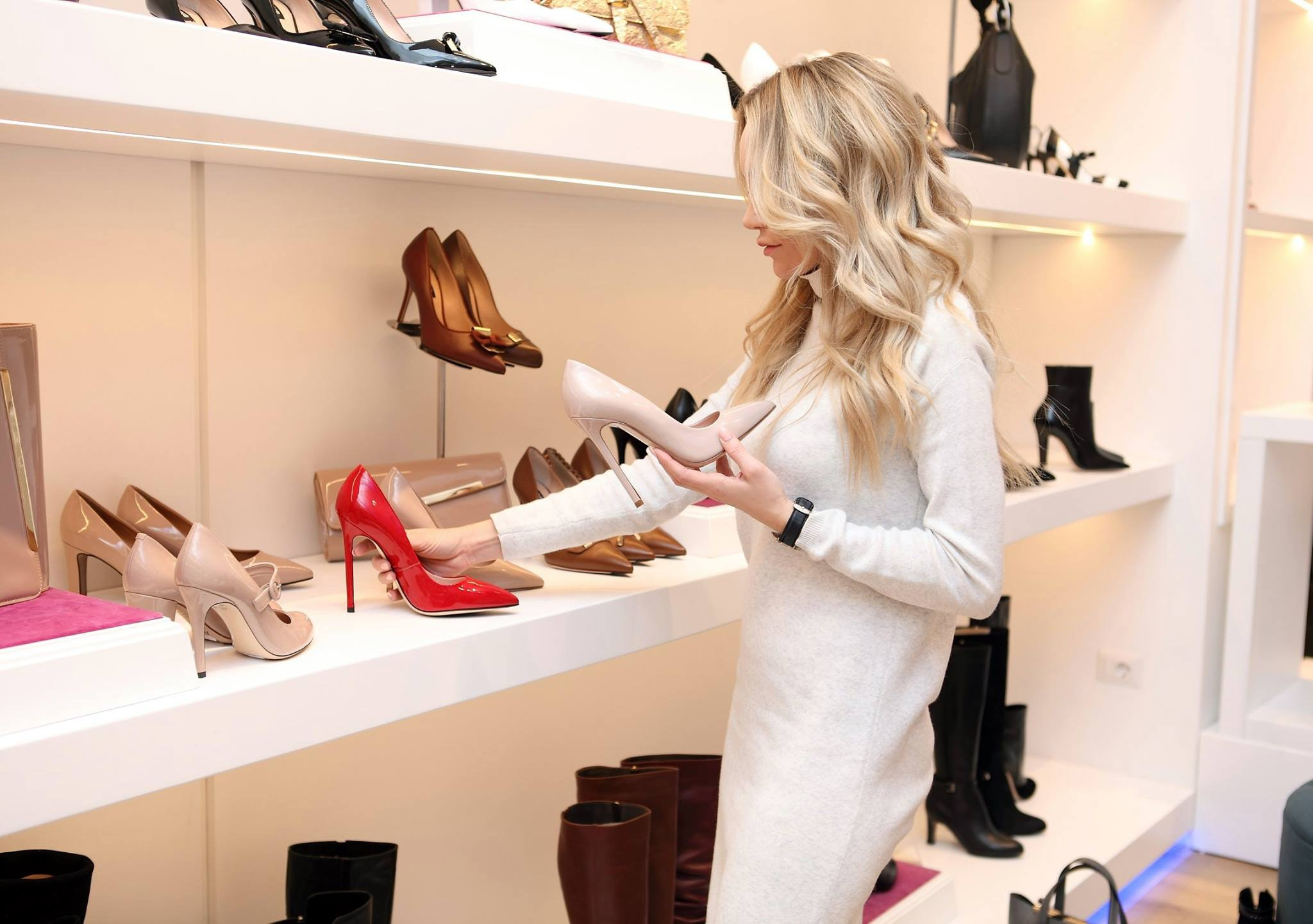 Woman At Shoe Store, Room, Woman, Wear, Stock, HQ Photo