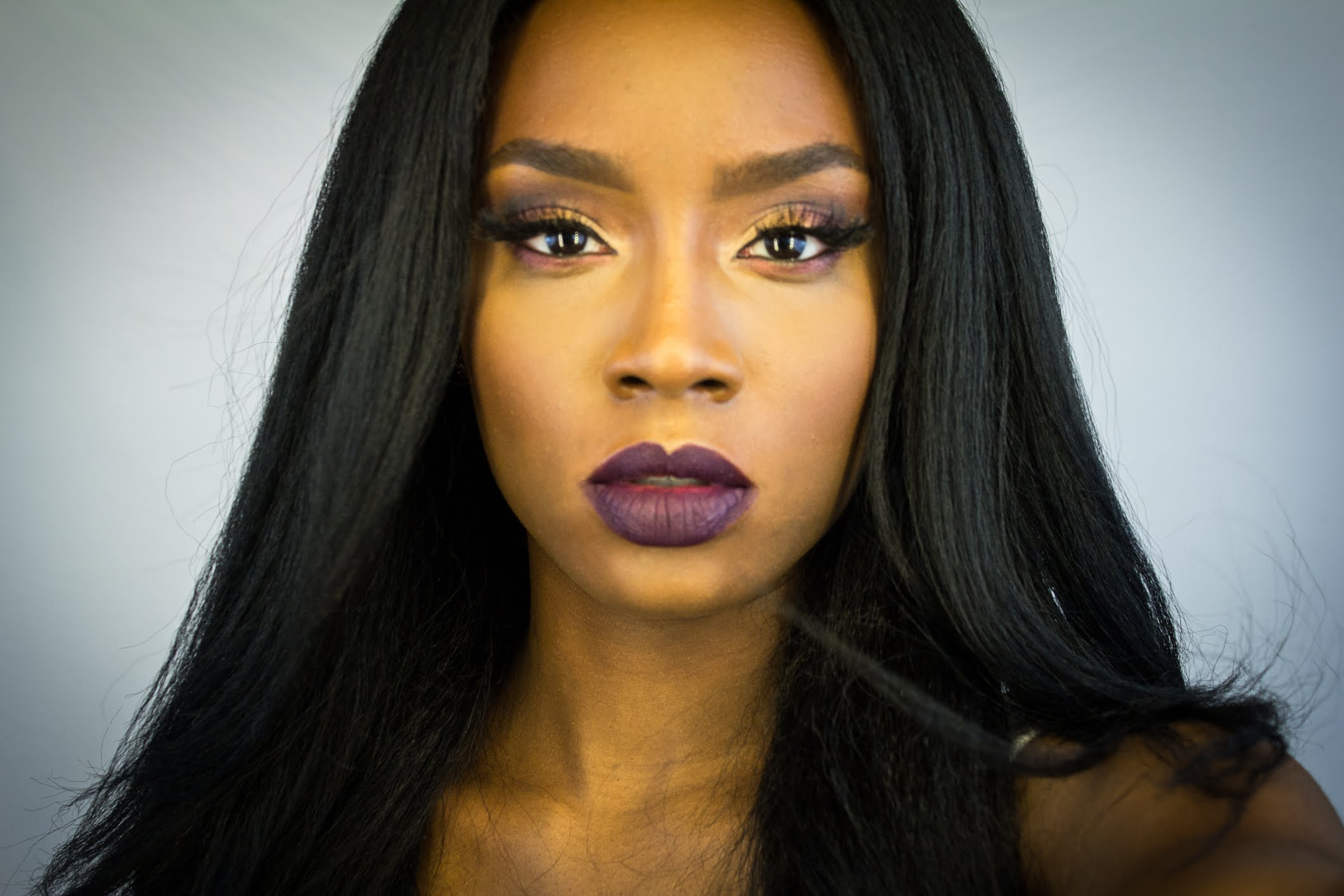 Fall Glam Makeup Tutorial | Dark Lips - YouTube