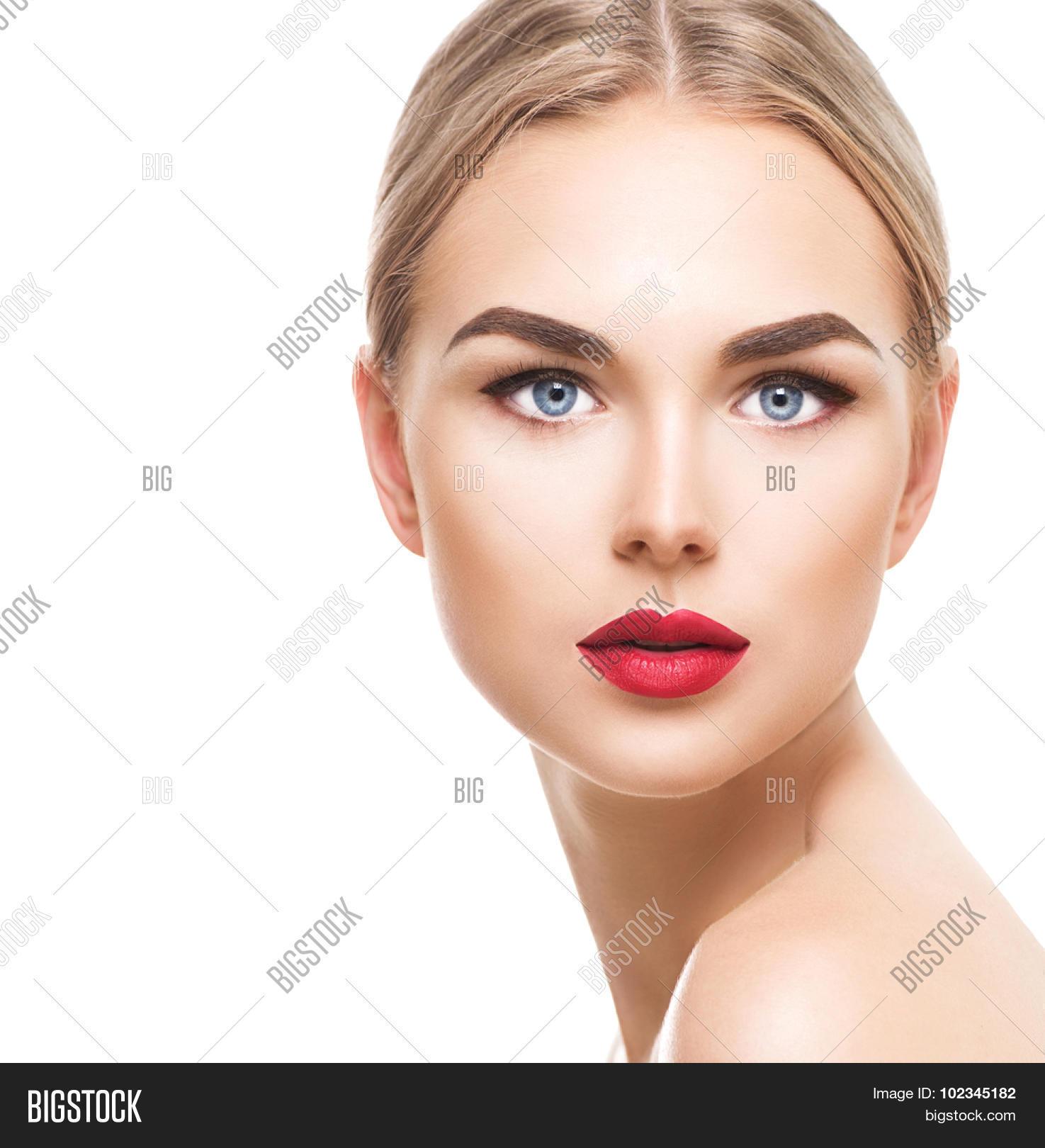 Beautiful Blonde Model Woman Face Image & Photo | Bigstock