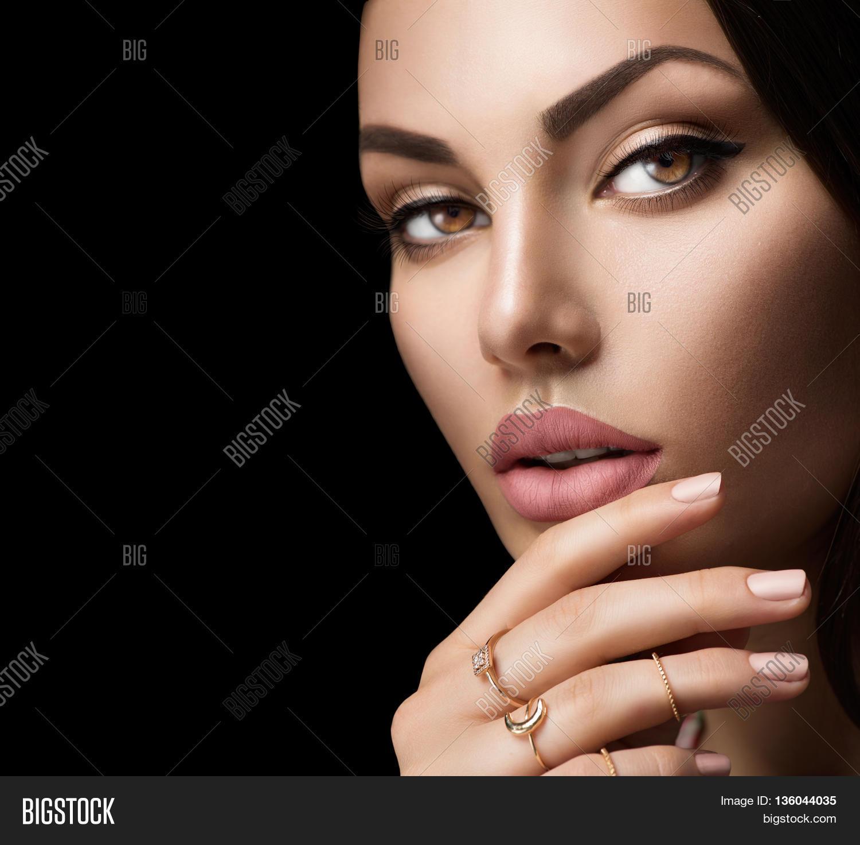 Beautiful Woman Face Portrait Image & Photo   Bigstock