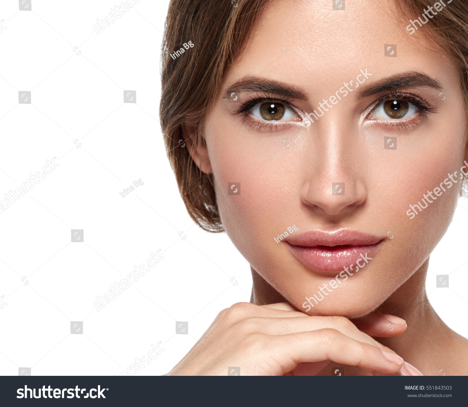 Beauty Woman Face Portrait Beautiful Spa Stock Photo & Image ...
