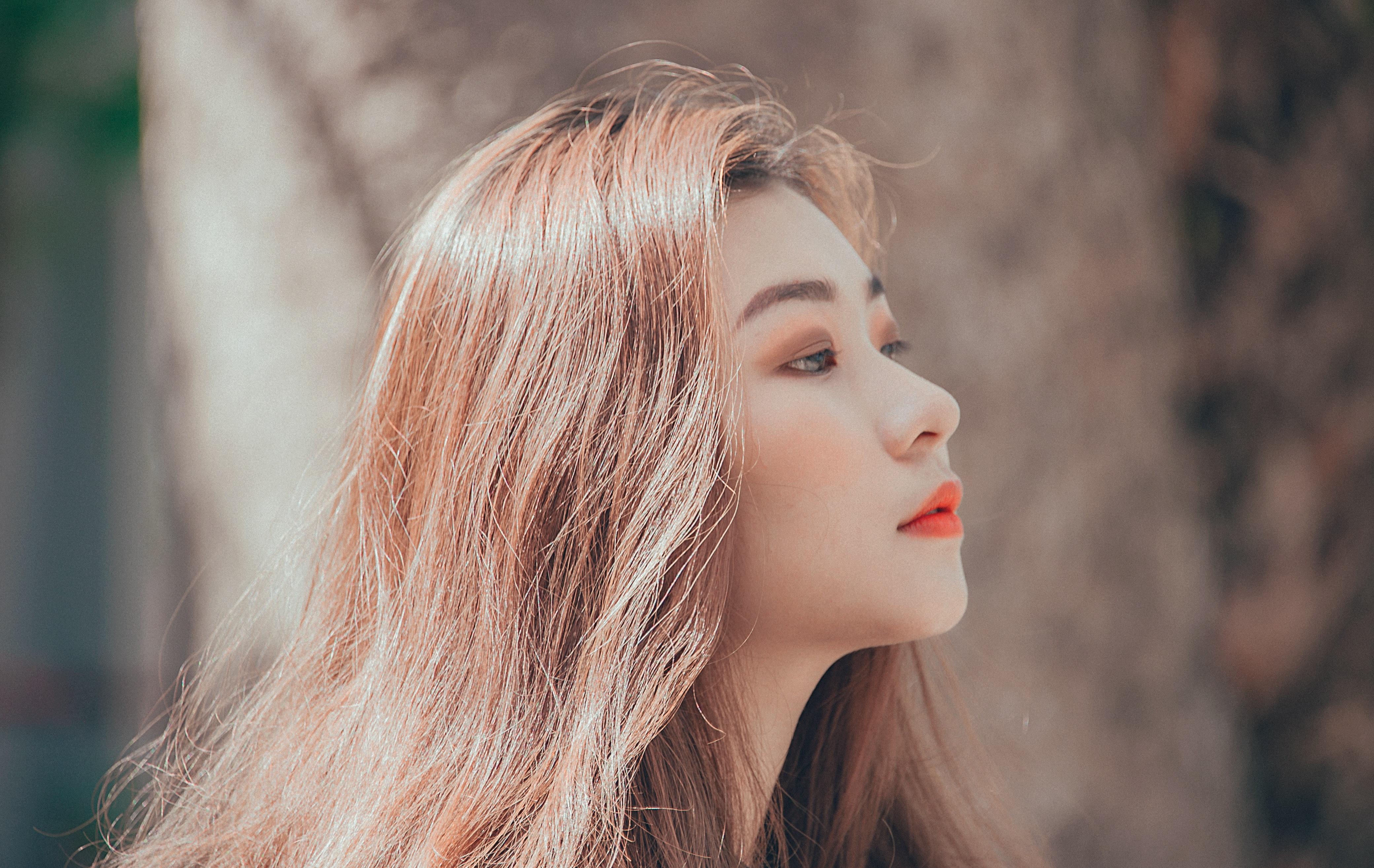 Woman Face, Asian, Lips, Woman, Style, HQ Photo