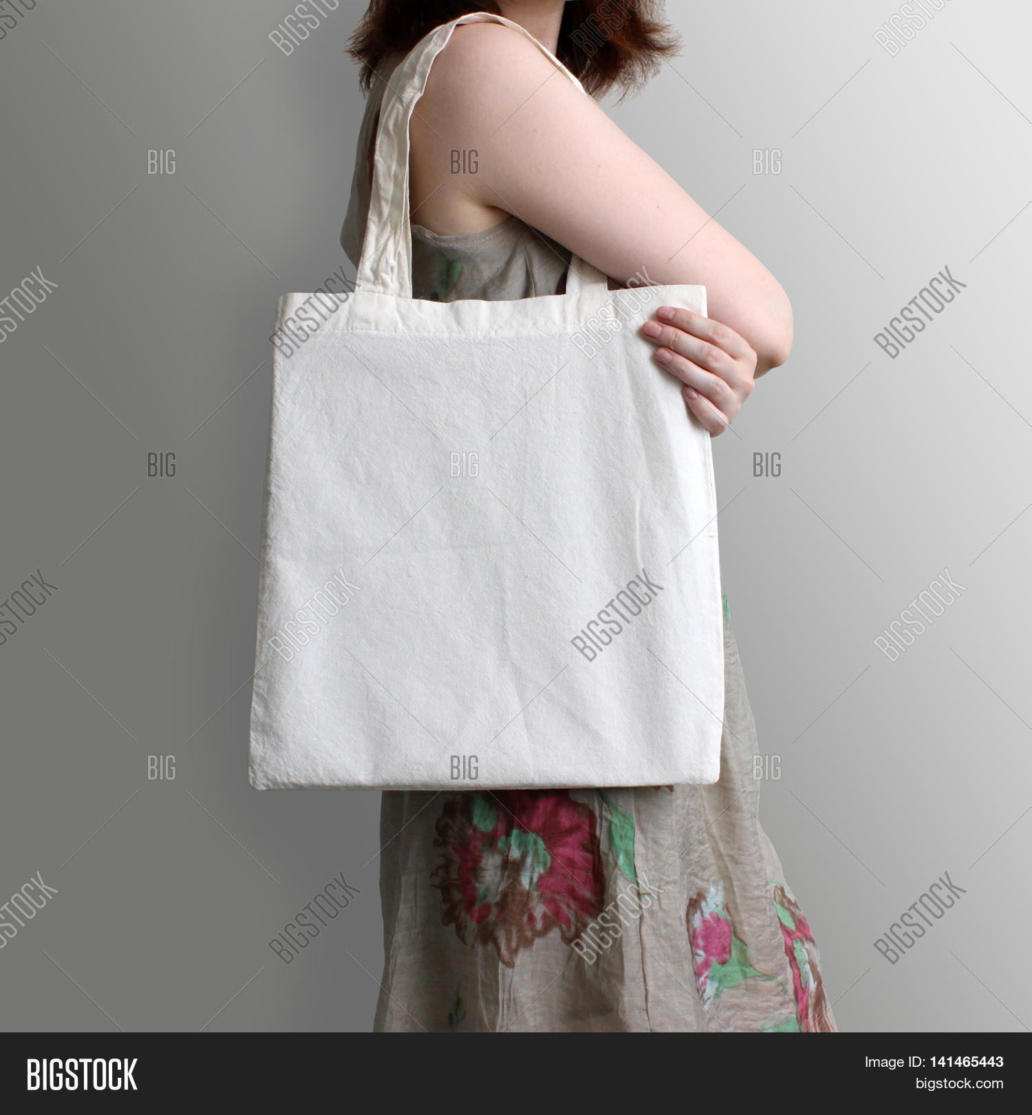 Girl Holding Blank Cotton Eco Tote Image & Photo | Bigstock