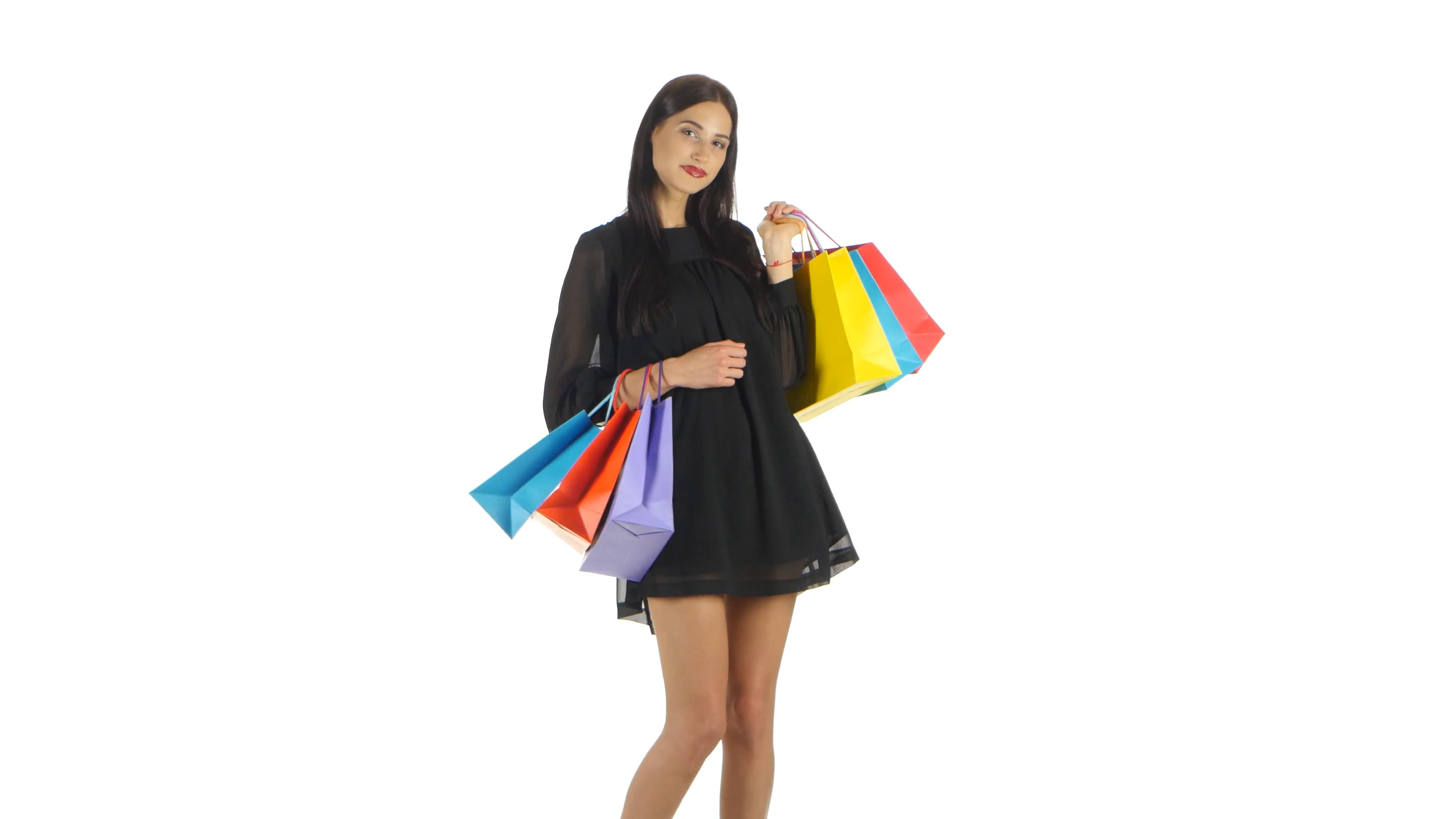 Girl With Shopping Bags PNG Transparent Girl With Shopping Bags.PNG ...