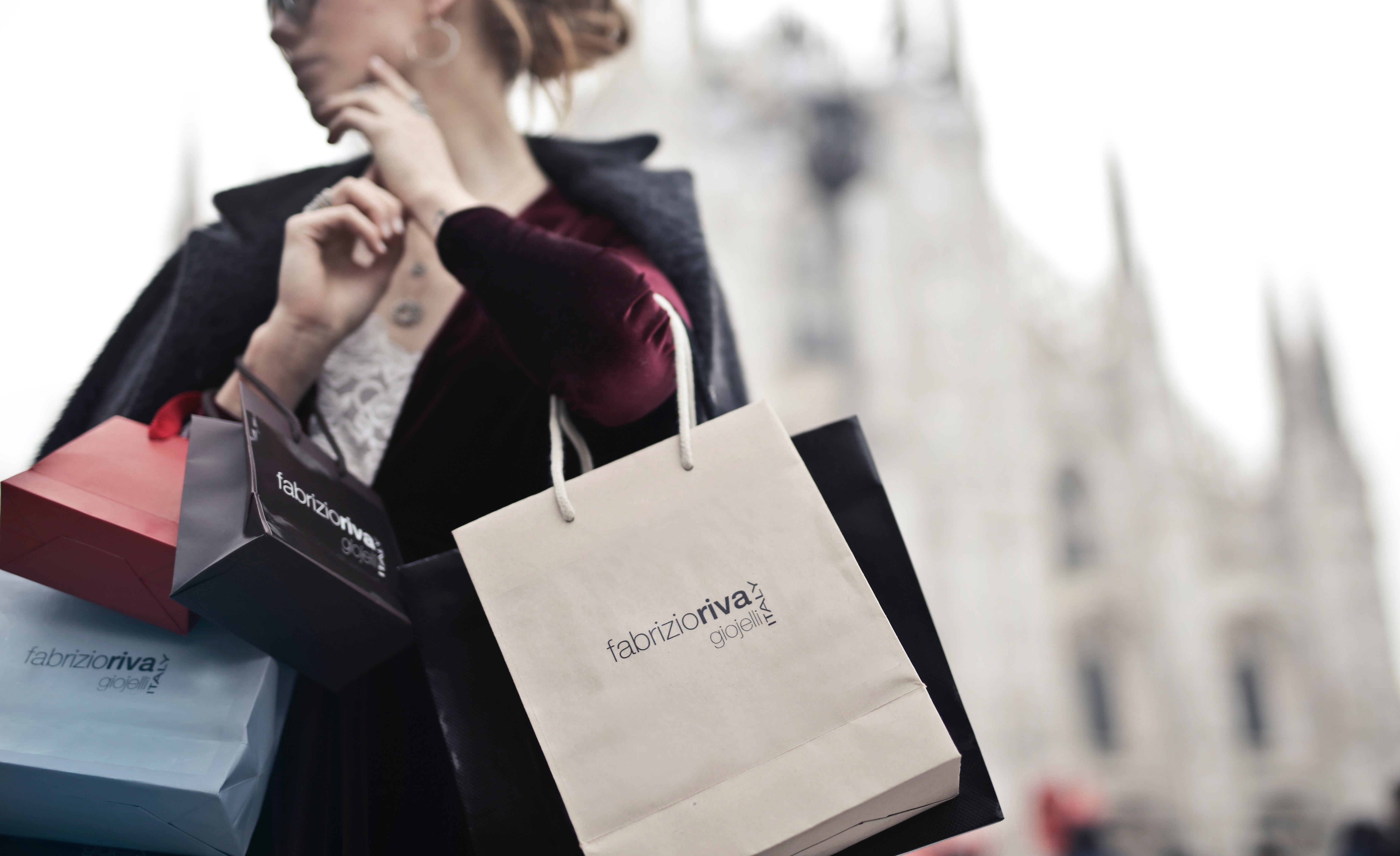 Woman Holding Shopping Bags, Adult, Blur, Caucasian, City, HQ Photo