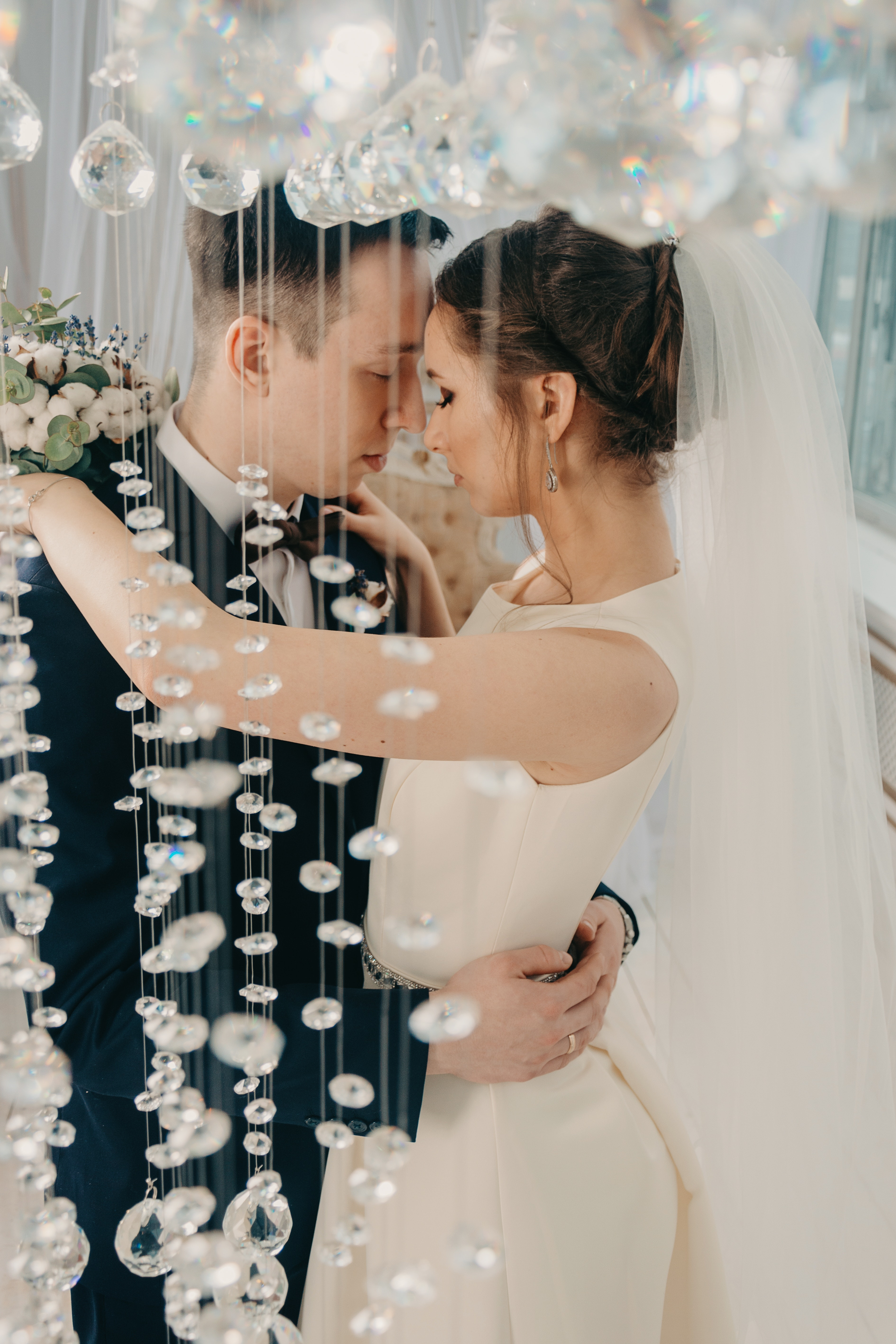 Woman Hugging Man on Wedding, Adults, Indoors, Wedding dress, Wedding, HQ Photo