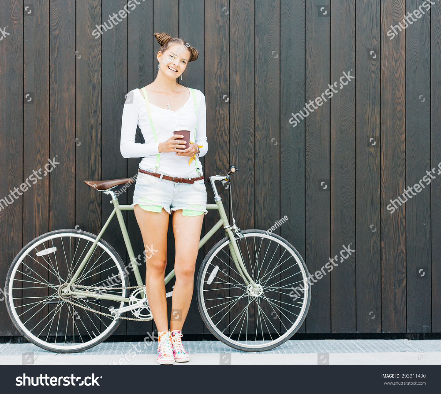 Pretty Girl Shorts Tshirt Stands Cool Stock Photo 293311400 ...