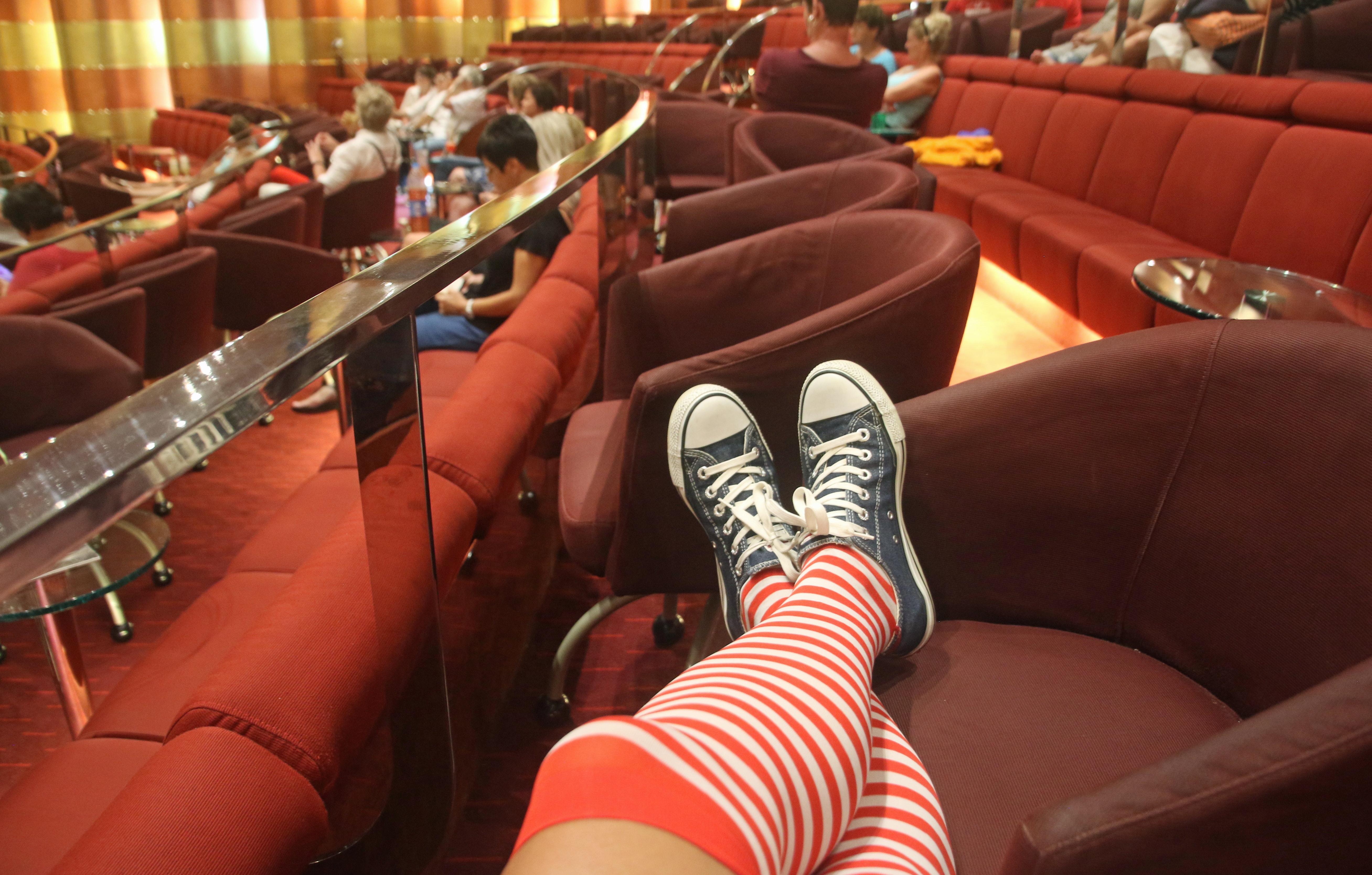 Woman legs wearing socks photo