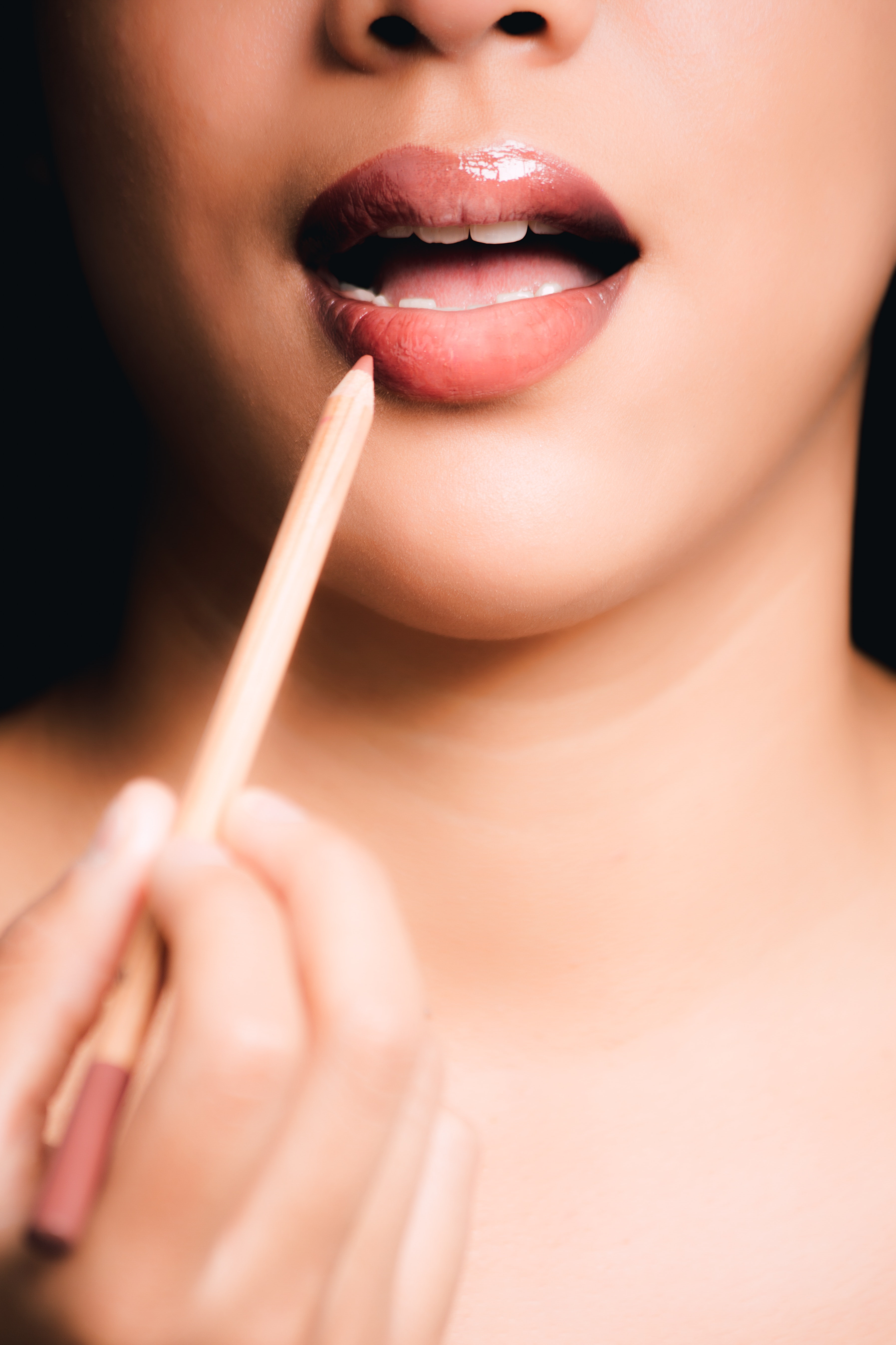 Woman Lipstick Pencil, Mouth, Young, Woman, Teeth, HQ Photo