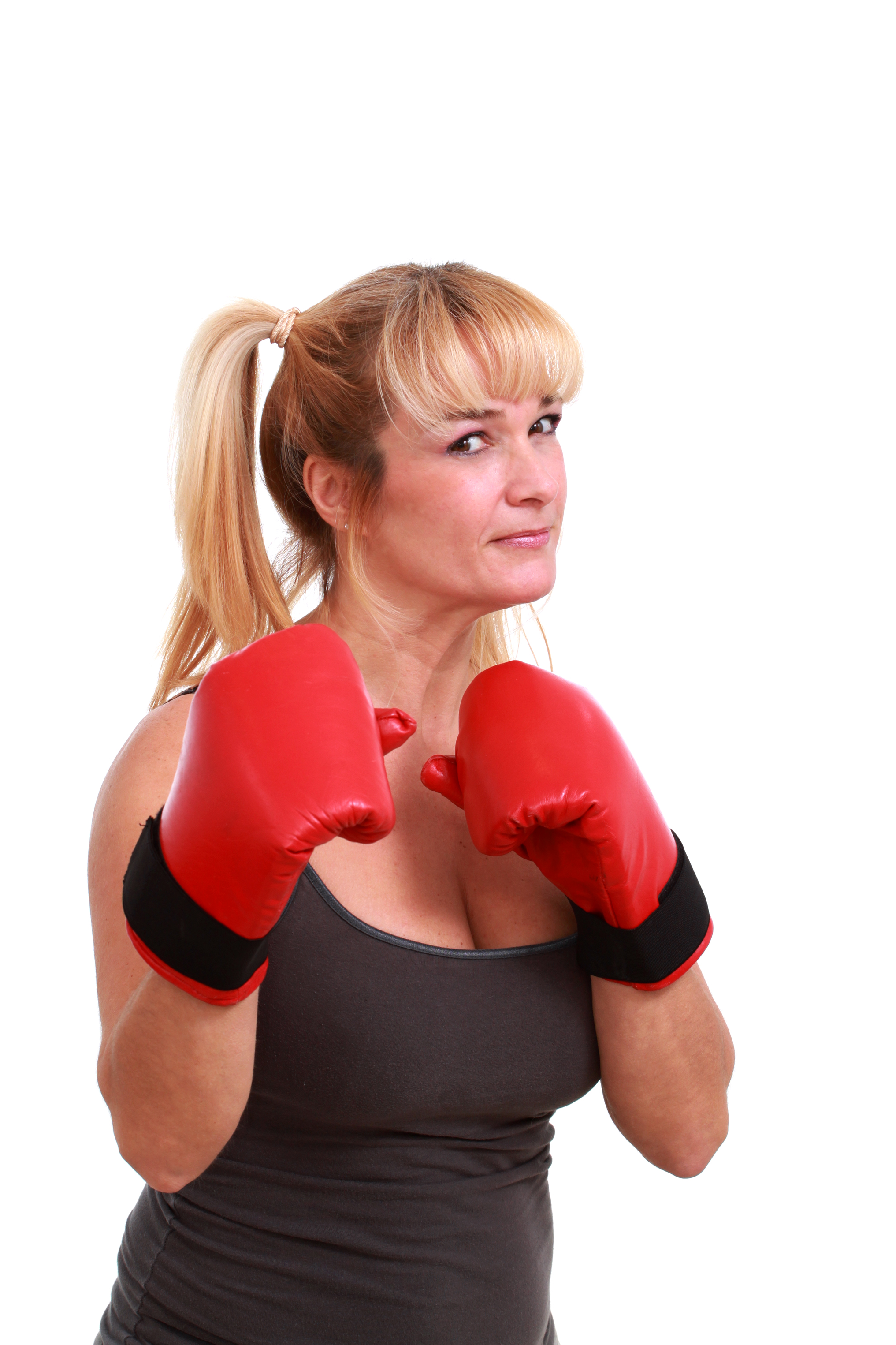 Woman ready to fight photo