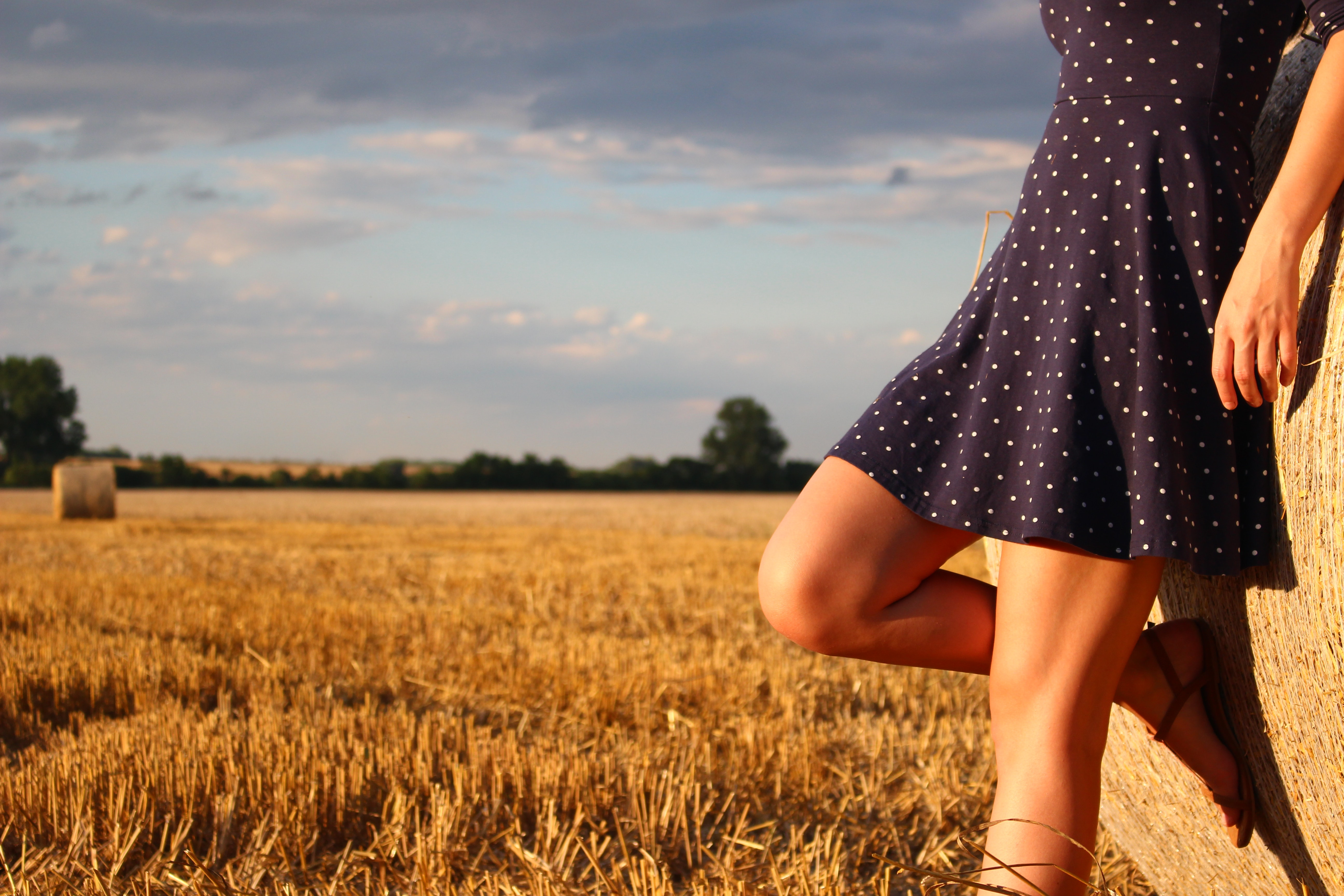 Woman Standing in a Field, Agriculture, Shadow, Outdoors, Person, HQ Photo