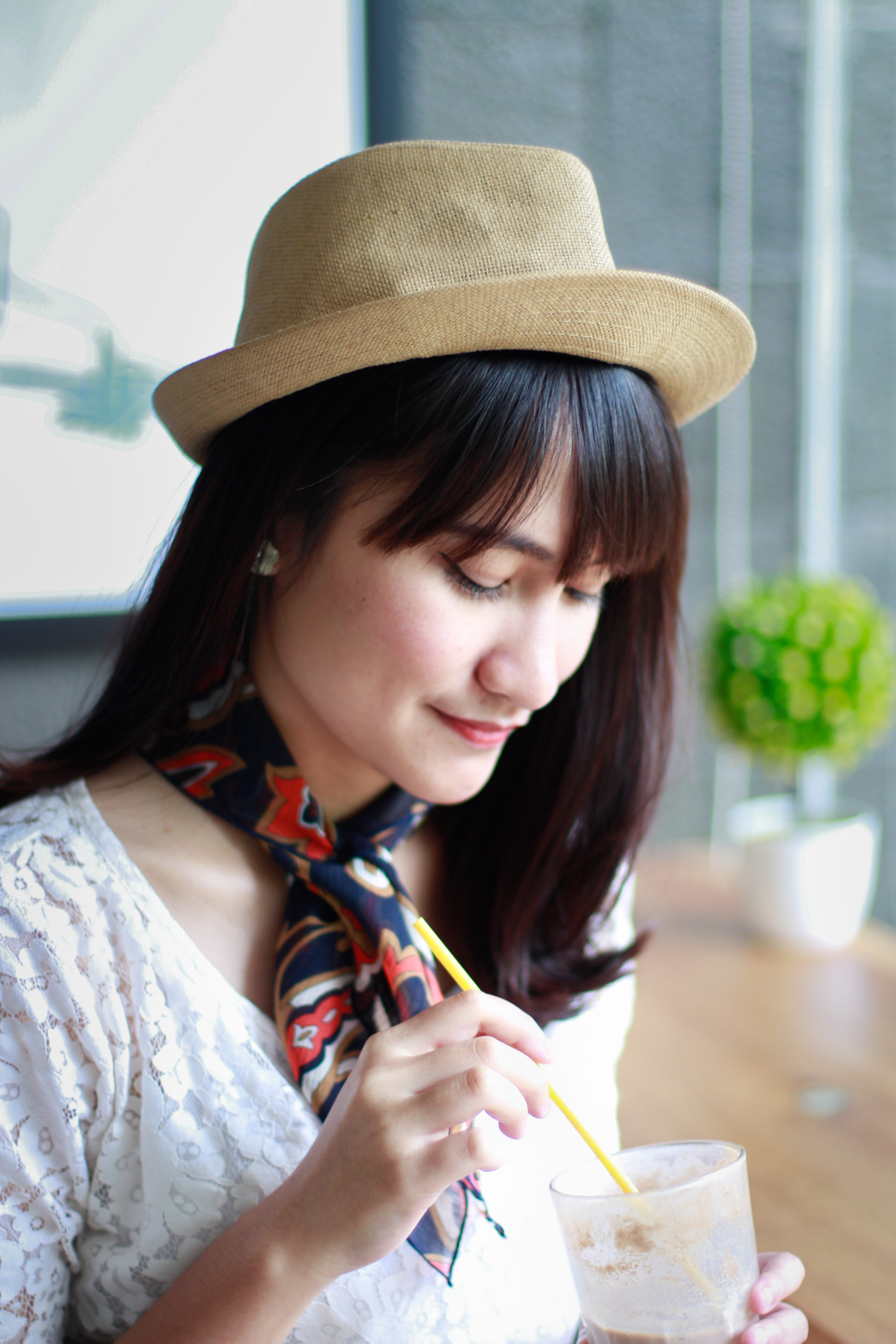 Close-Up Photography of a Woman Wearing Hat · Free Stock Photo