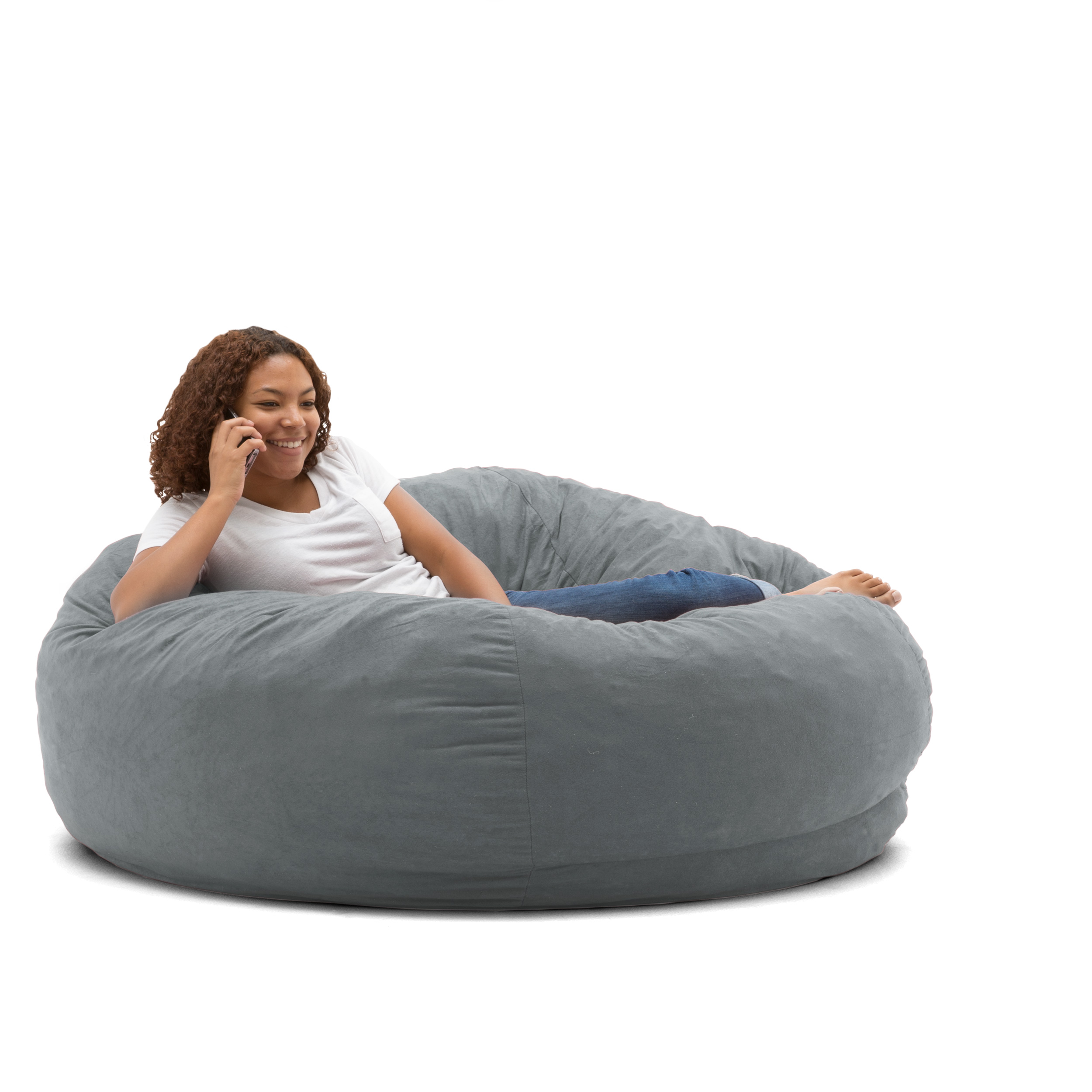 King 5' Fuf Comfort Suede Bean Bag Chair, Multiple Colors - Walmart.com